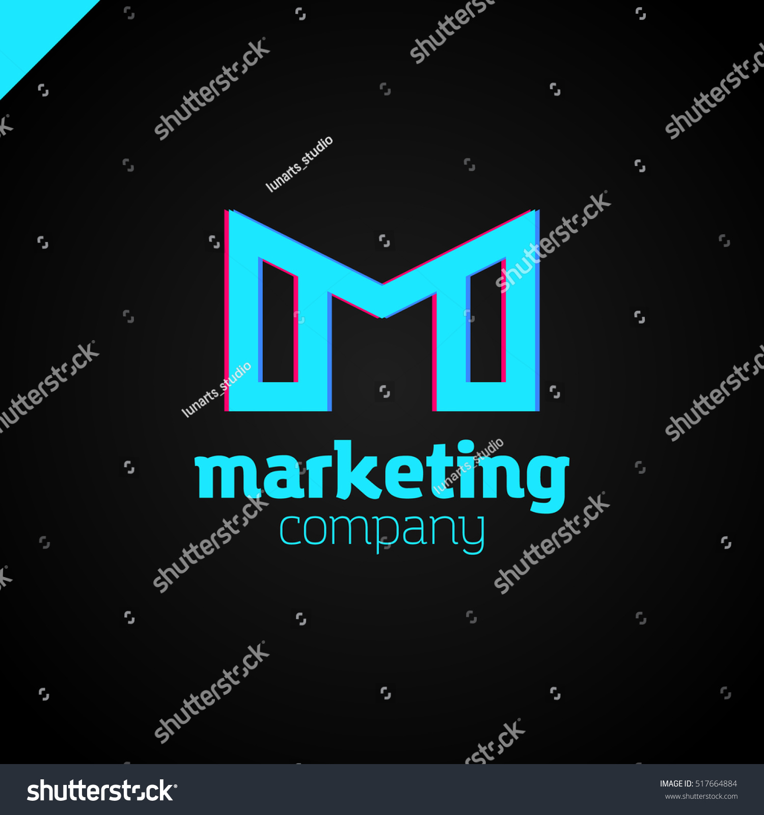Letter M Logo Mm Initials Two Stock Vector Shutterstock