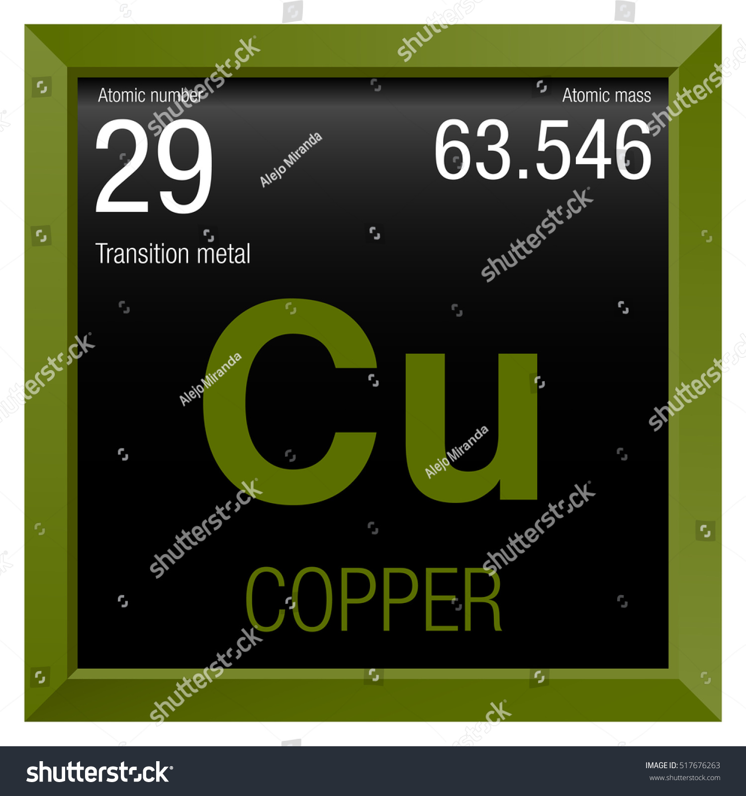 Copper symbol element number 29 periodic stock vector 517676263 copper symbol element number 29 of the periodic table of the elements chemistry urtaz Gallery