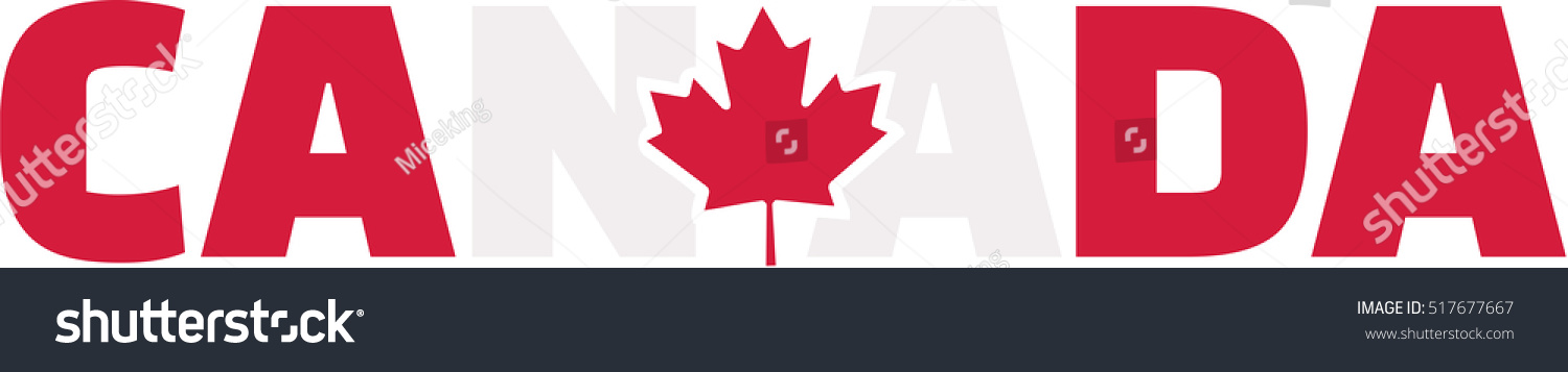 canada word flag stock vector royalty free 517677667 shutterstock