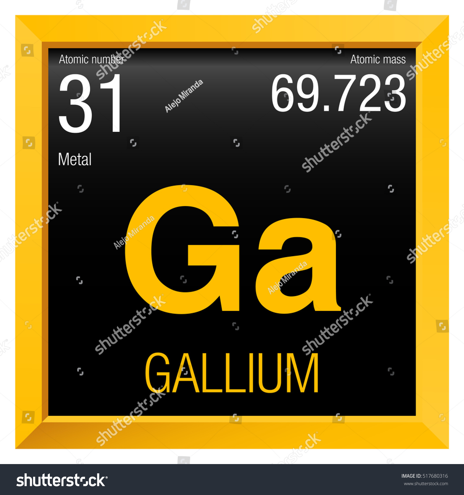 31 periodic table images periodic table images gallium symbol element number 31 periodic stock vector 517680316 element number 31 of the periodic table gamestrikefo Image collections
