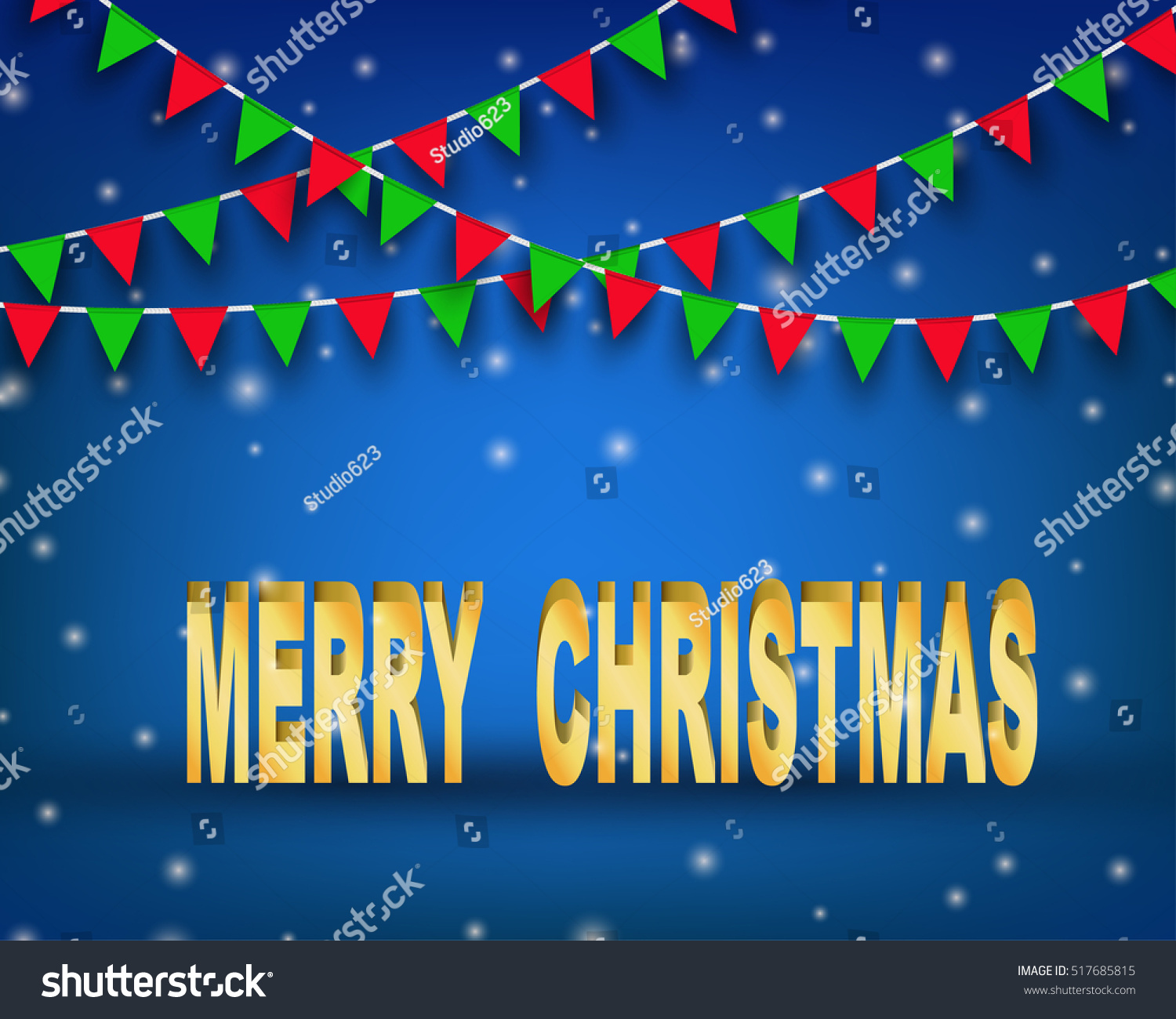 Merry christmas wording bunting flag concept stock vector royalty merry christmas wording with bunting flag concept design for greeting card banner poster m4hsunfo