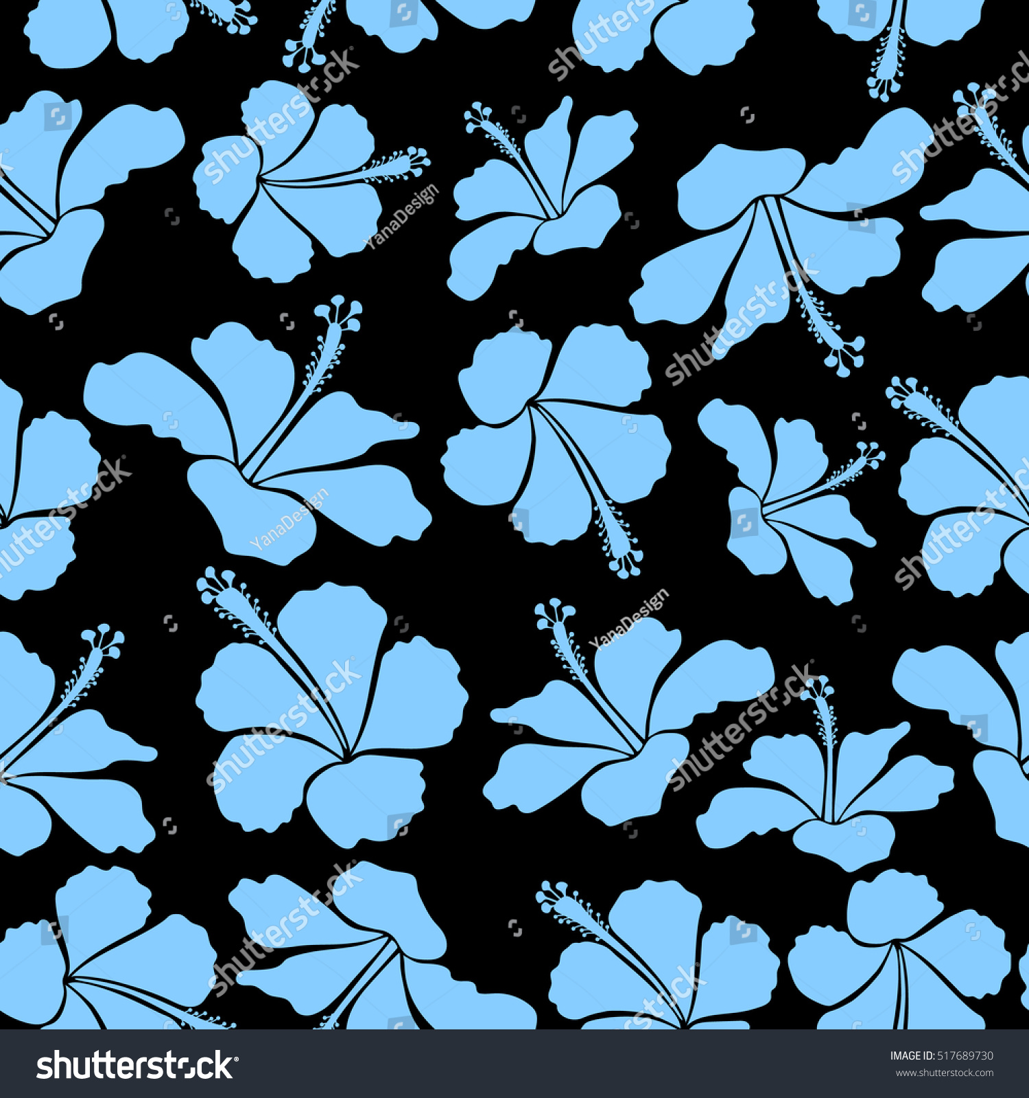 Bright hawaiian seamless pattern with tropical hibiscus flowers on id 517689730 izmirmasajfo