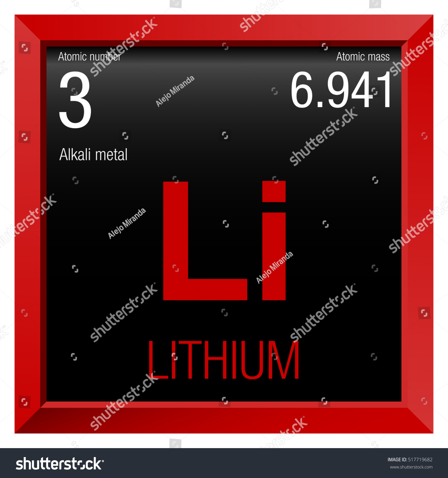 Lithium symbol element number 3 periodic stock vector 517719682 lithium symbol element number 3 of the periodic table of the elements chemistry buycottarizona