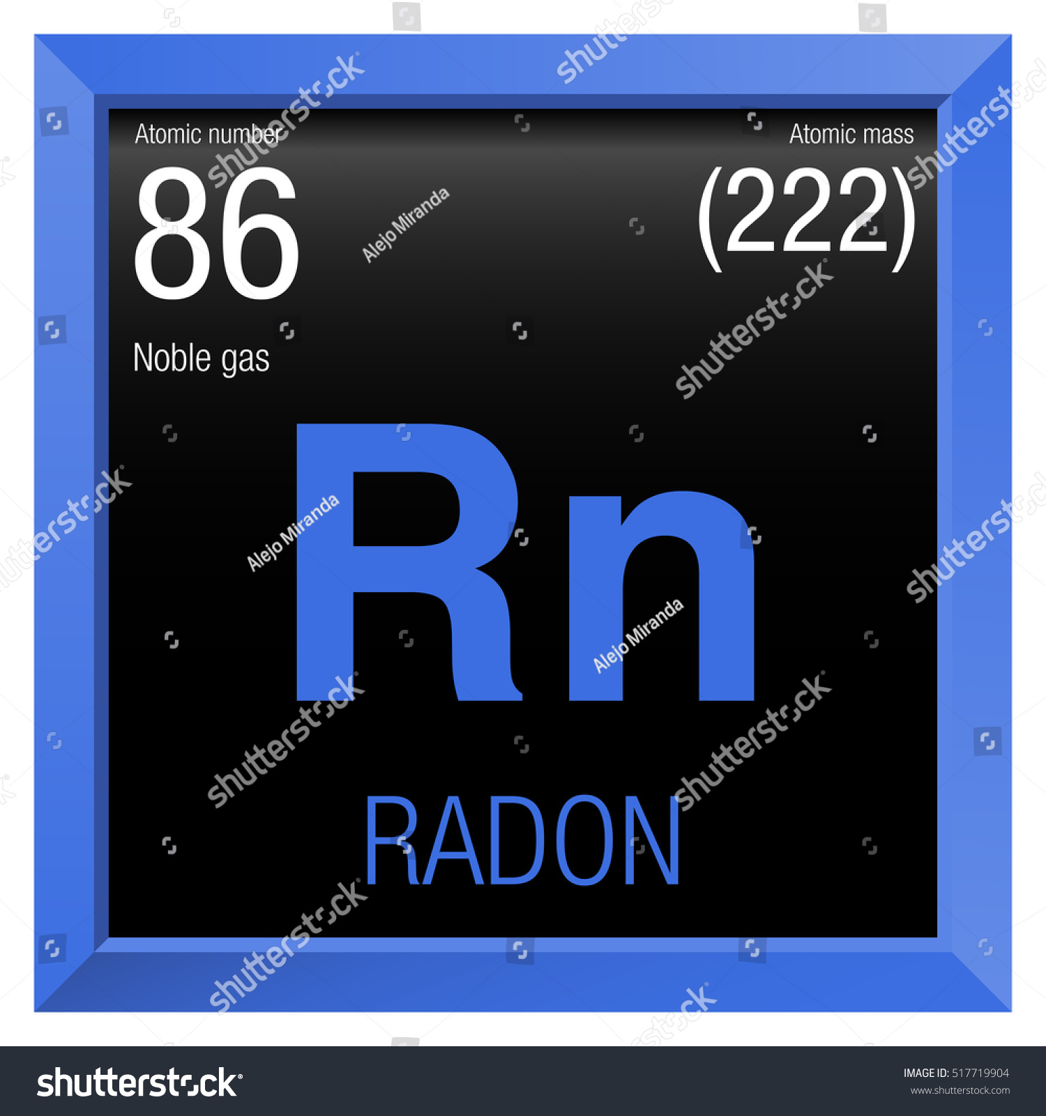 Element 86 periodic table choice image periodic table images radon symbol element number 86 periodic stock vector 517719904 element number 86 of the periodic table gamestrikefo Image collections