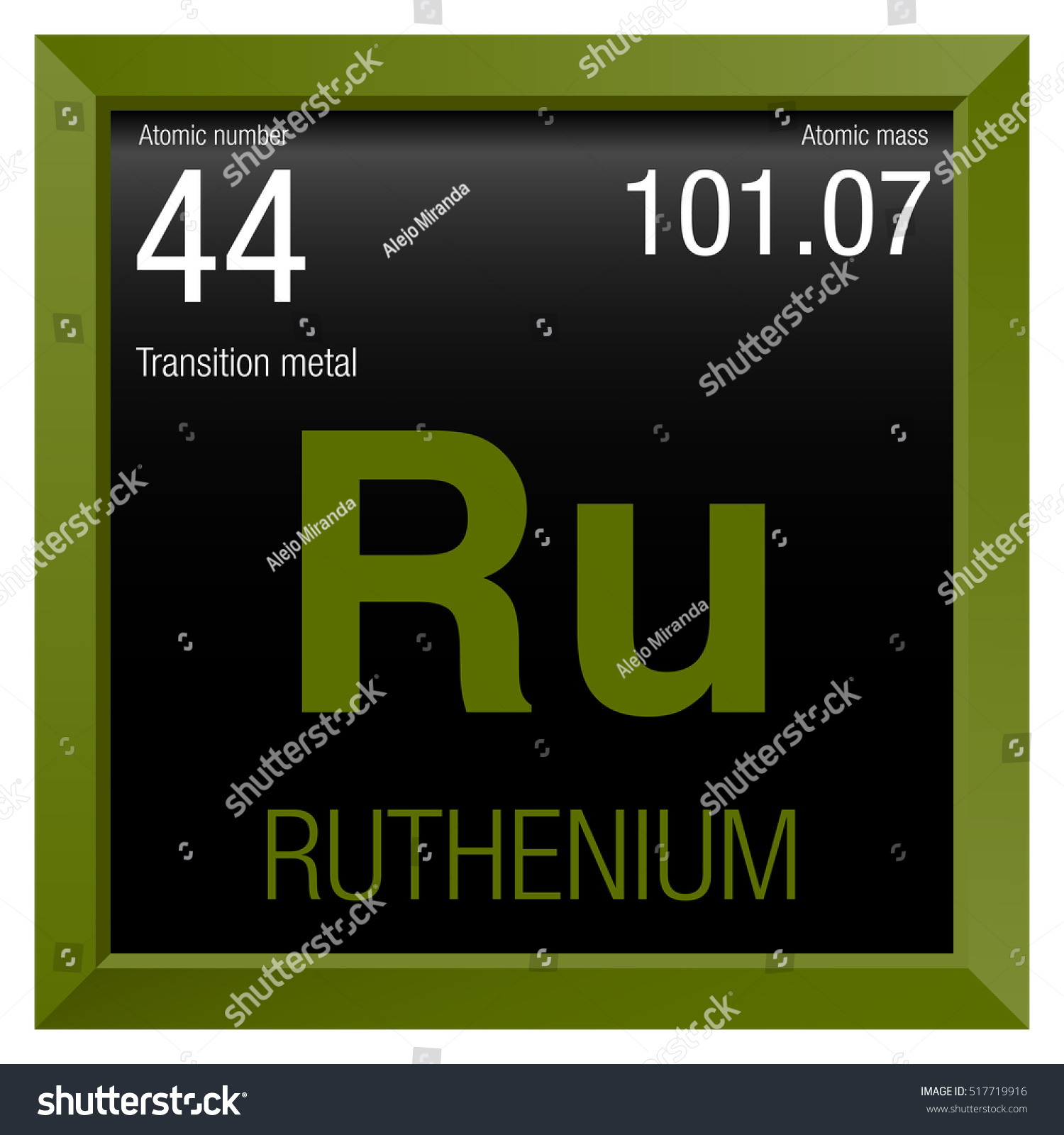 Ruthenium symbol element number 44 periodic stock vector 517719916 ruthenium symbol element number 44 of the periodic table of the elements chemistry gamestrikefo Choice Image