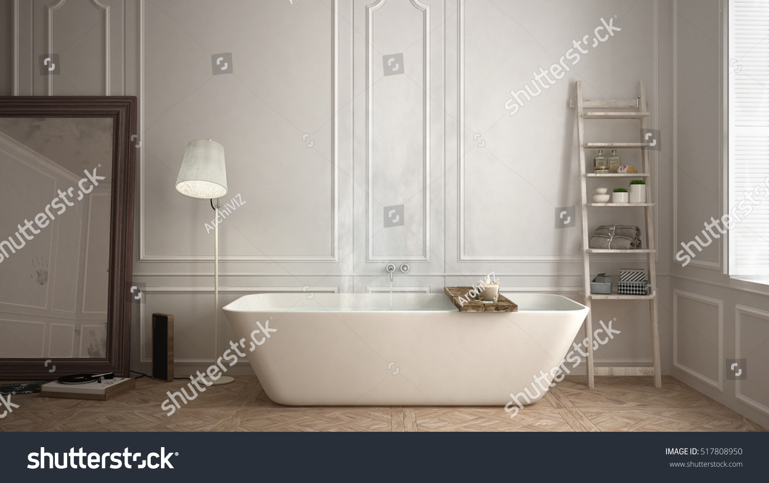 Scandinavian Bathroom White Minimalistic Design Hotel Stock ...