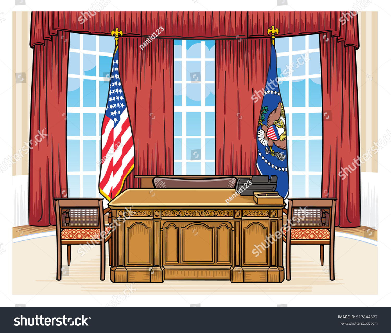 pictures of oval office. The Oval Office Of President United States In White House Pictures