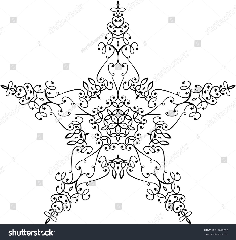 Tattoo Star Symbol Vector Illustration Stock Vector 517899052