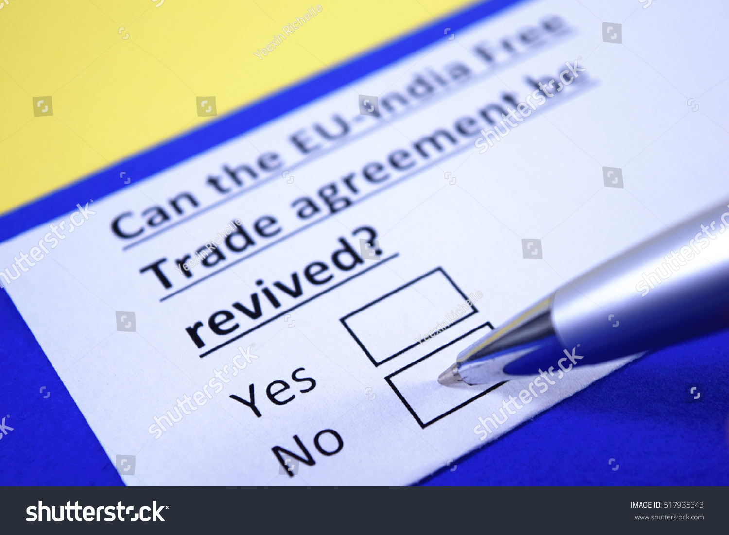 Can Eu India Free Trade Agreement Be Stock Photo Royalty Free