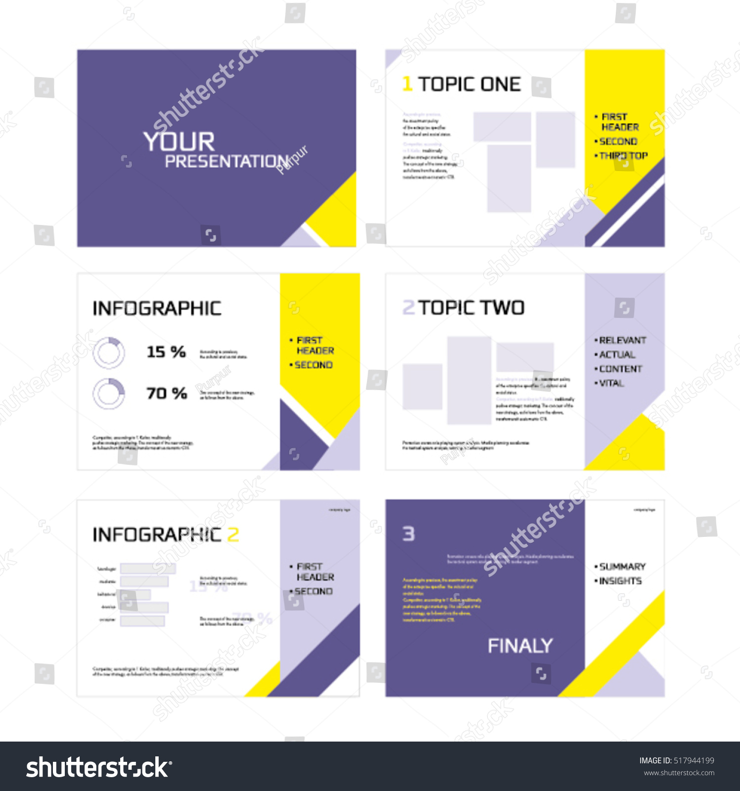presentation templates infographics images business flyer stock, Powerpoint templates