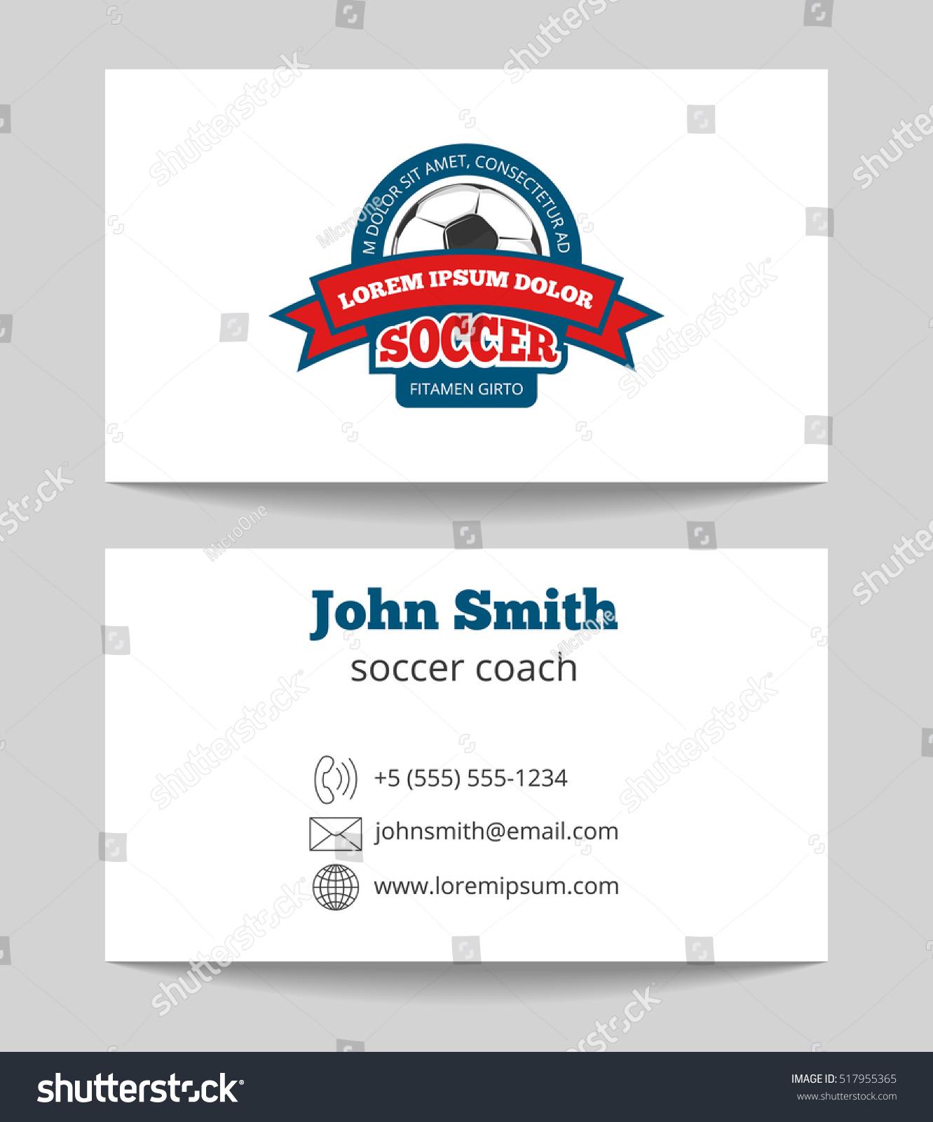 Soccer Coach Business Card Template Logo Stock Illustration ...