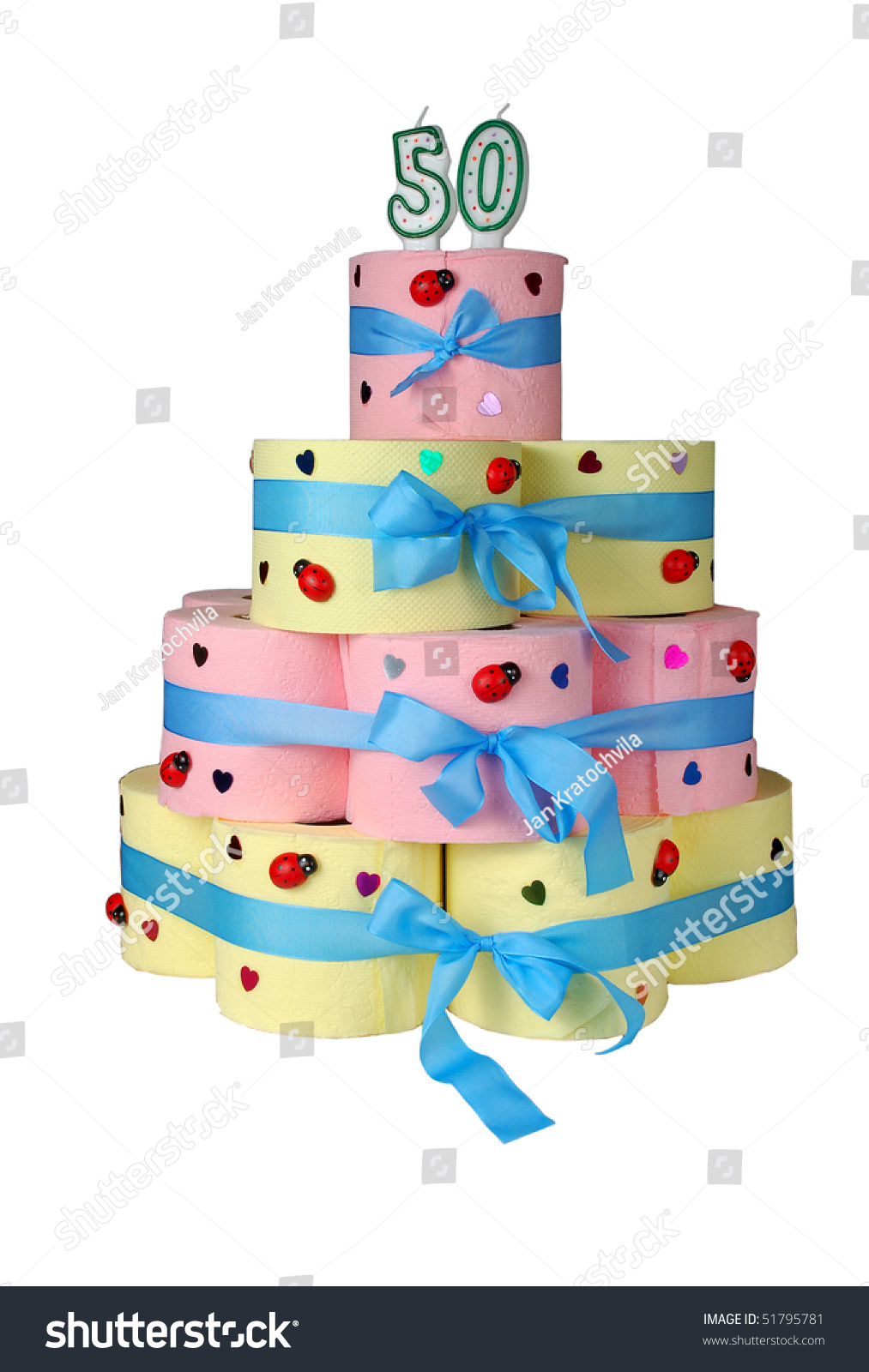 50th Birthday Cake Made Toilet Paper Stock Photo Edit Now 51795781