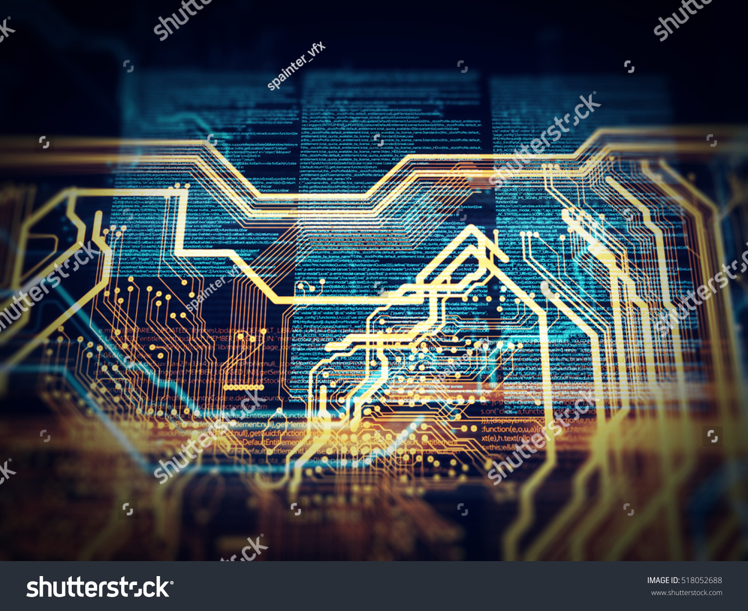 Pcb Code Html Web Programming Software Stock Illustration 518052688 Printed Circuit Board 13 Royalty Free Photos Image Background 3d