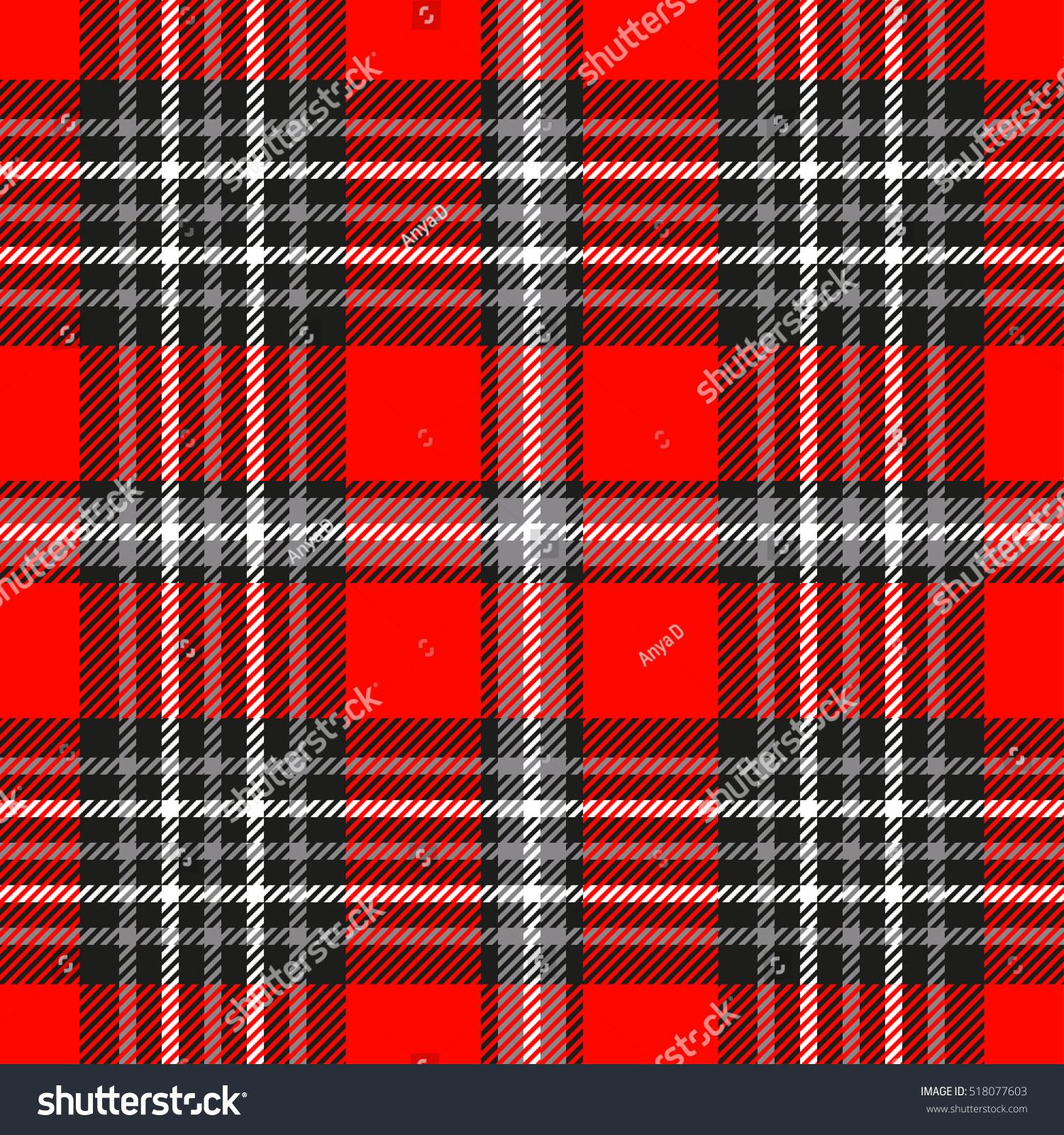 Tartan Plaid Seamless Tartan Plaid Pattern Checkered Textile Stock Vector