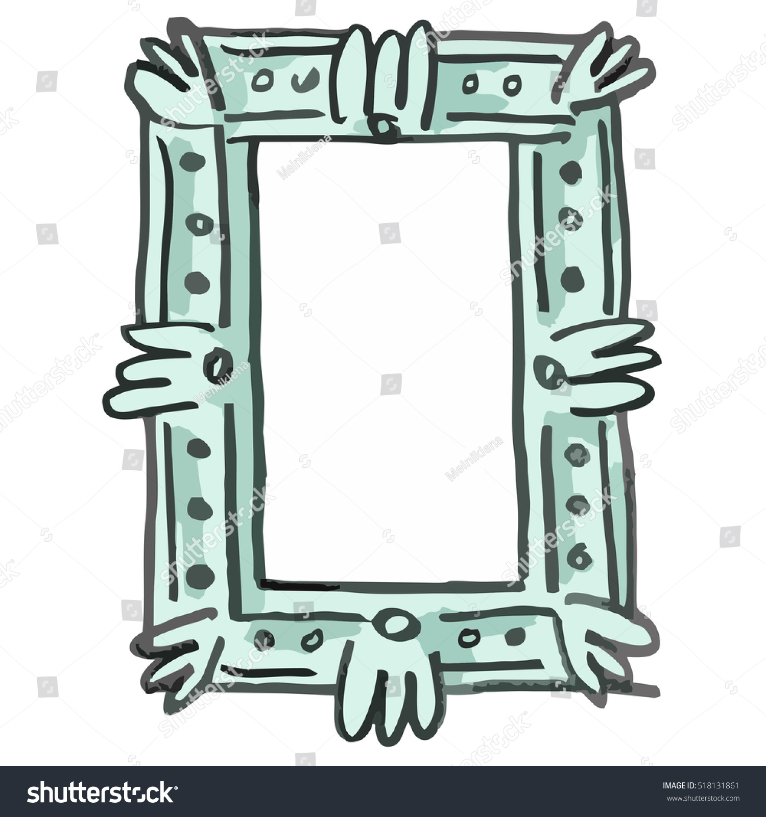Cartoon Photo Picture Painting Drawing Frame Stock Vector ...