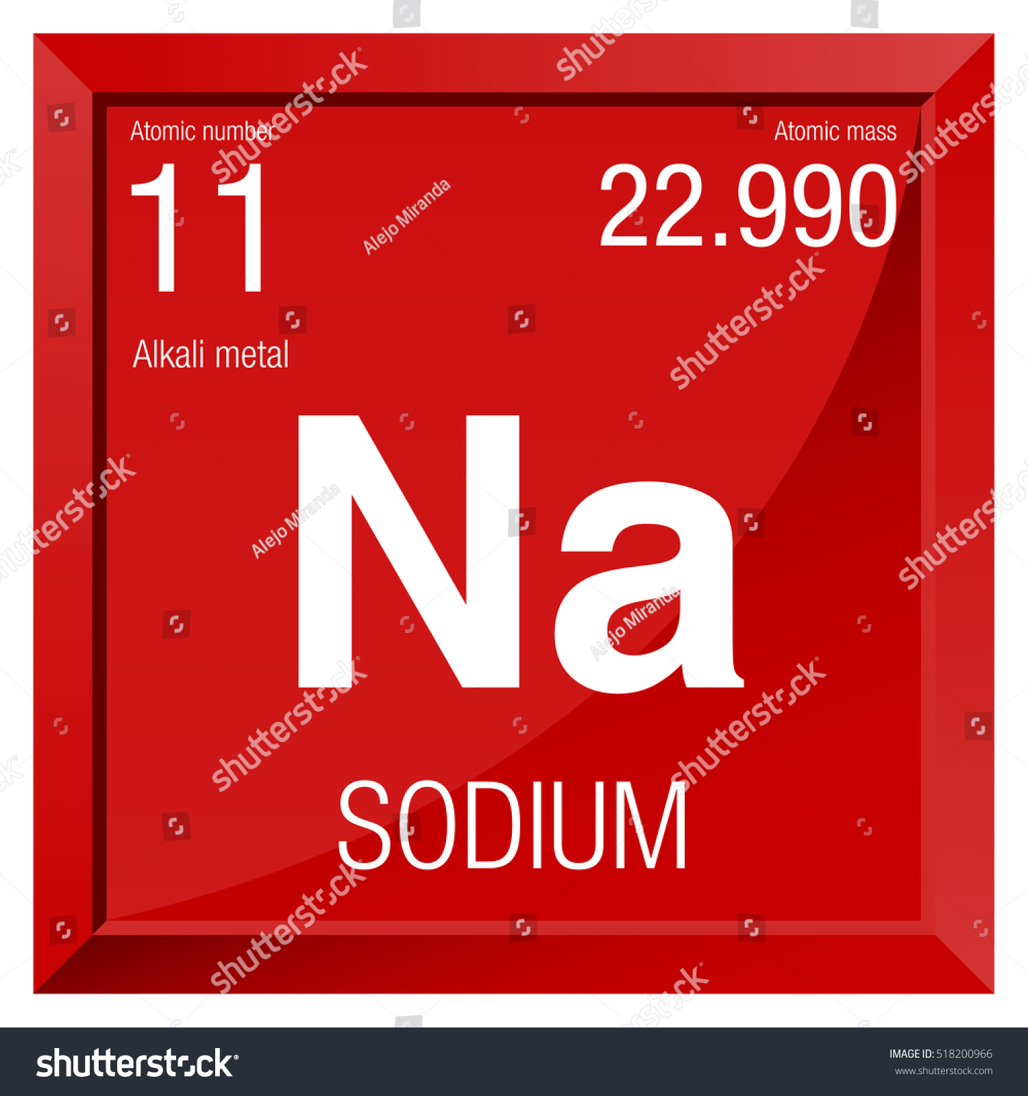 Sodium symbol element number 11 periodic stock vector 518200966 sodium symbol element number 11 of the periodic table of the elements chemistry urtaz Images