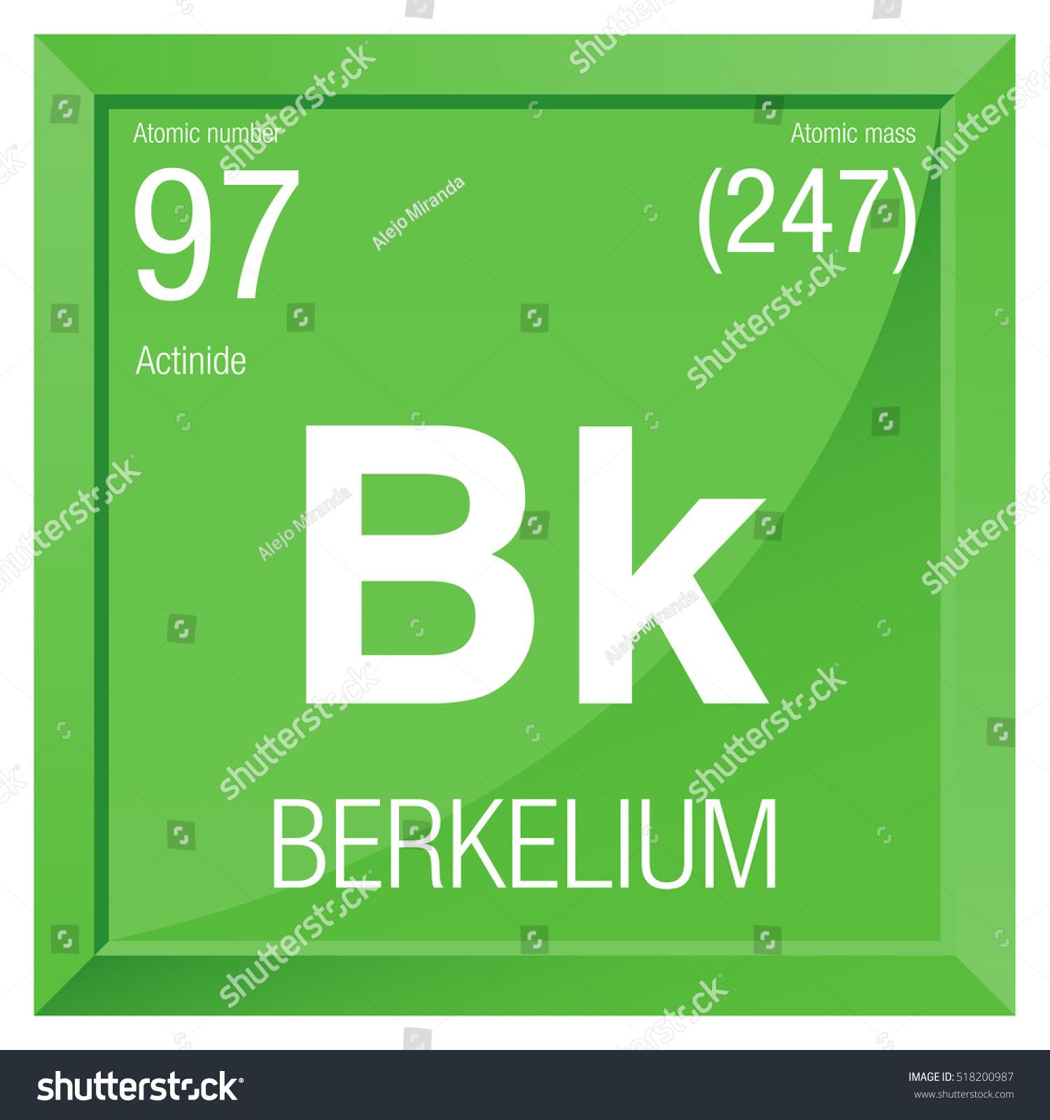 Berkelium symbol element number 97 periodic stock vector 518200987 berkelium symbol element number 97 of the periodic table of the elements chemistry urtaz Choice Image