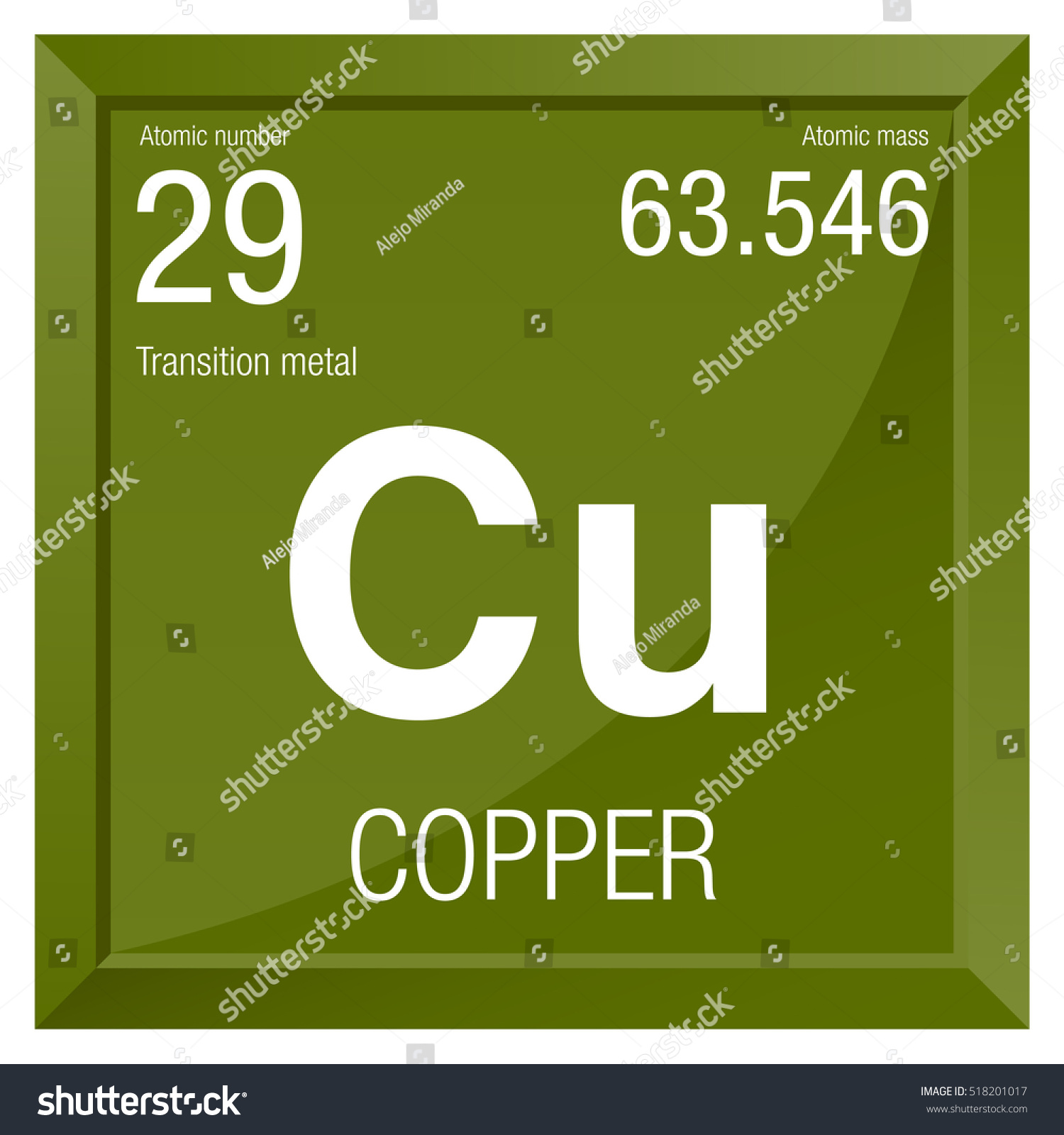 Copper symbol element number 29 periodic stock vector 518201017 copper symbol element number 29 of the periodic table of the elements chemistry buycottarizona