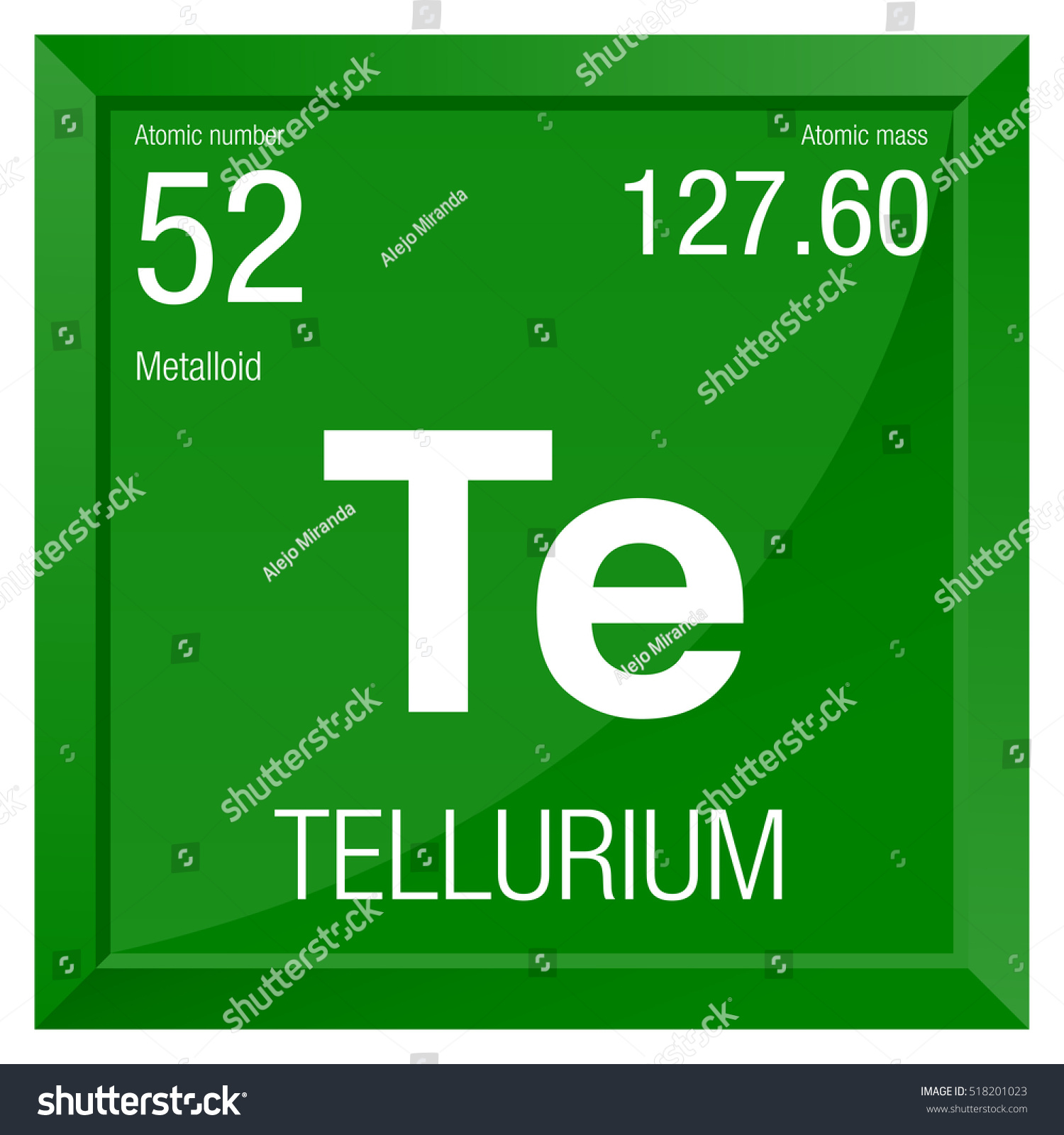 Tellurium symbol element number 52 periodic stock vector 518201023 tellurium symbol element number 52 of the periodic table of the elements chemistry biocorpaavc Images