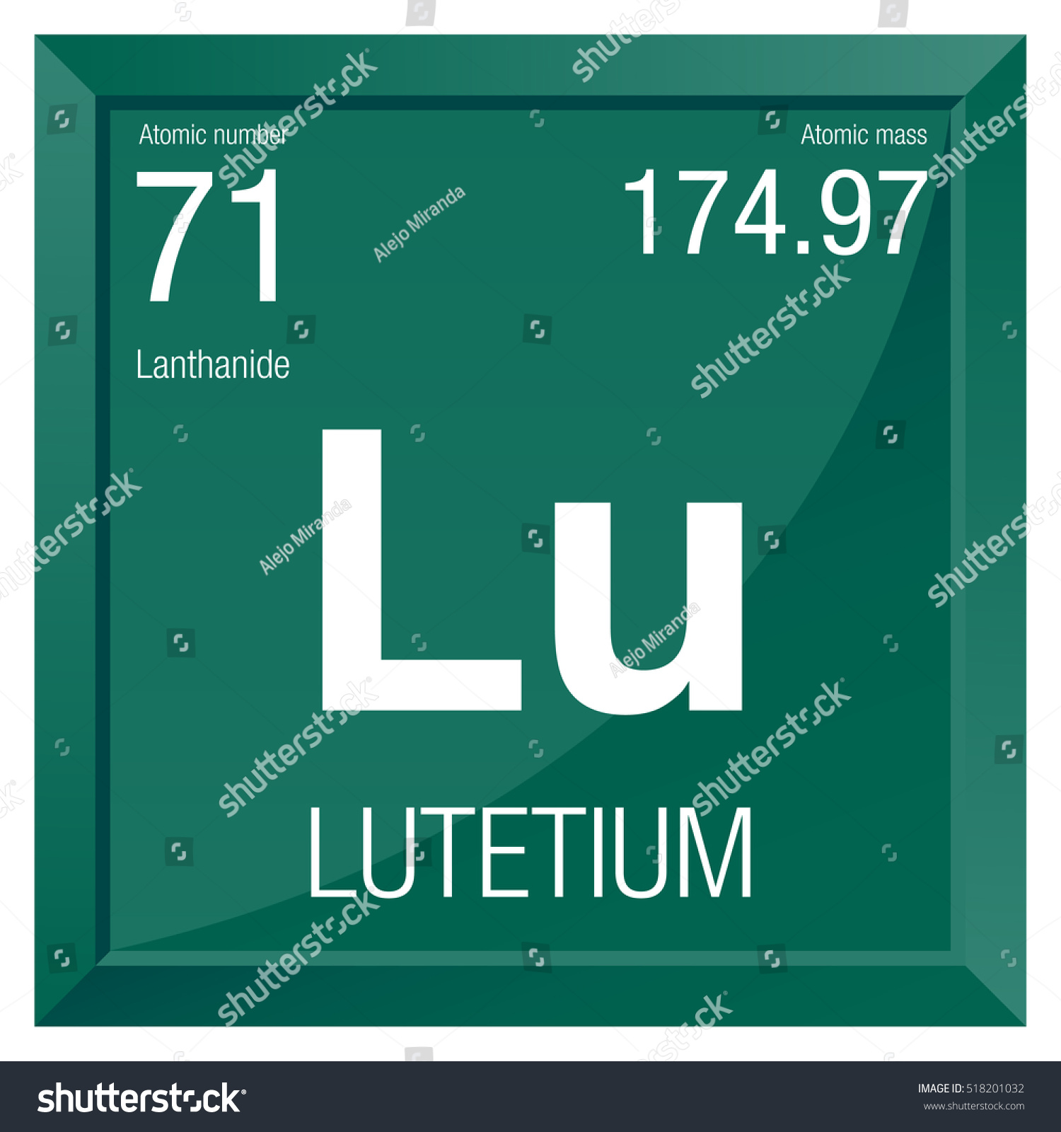 Lutetium symbol element number 71 periodic stock vector 518201032 lutetium symbol element number 71 of the periodic table of the elements chemistry gamestrikefo Images