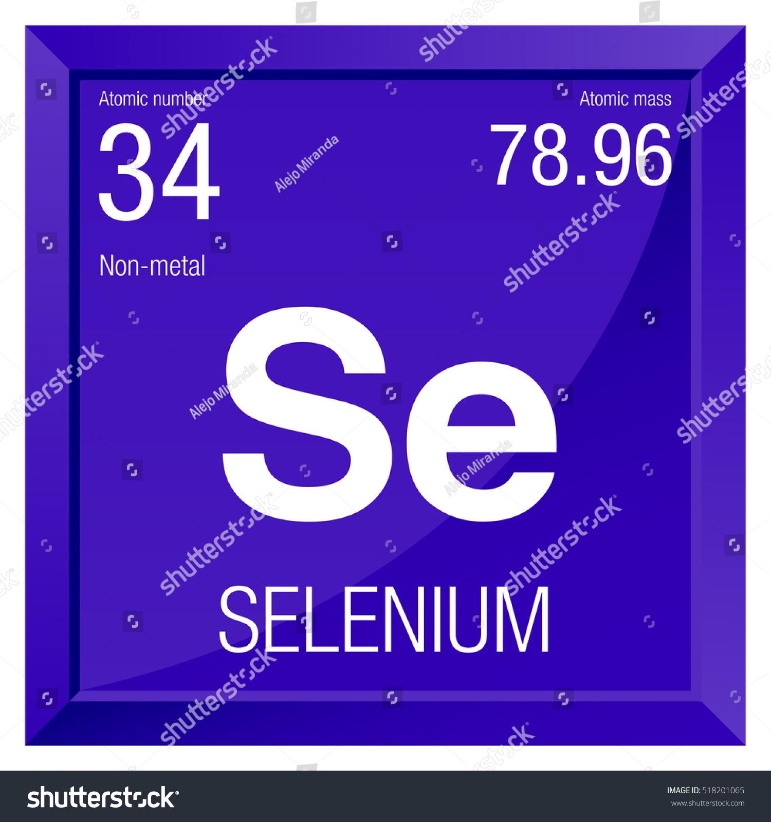Selenium symbol element number 34 periodic stock vector 518201065 selenium symbol element number 34 of the periodic table of the elements chemistry buycottarizona