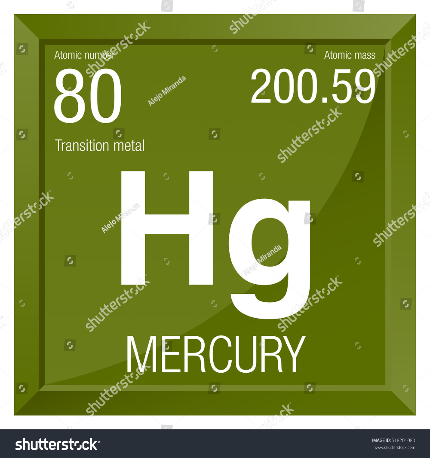Mercury symbol element number 80 periodic stock vector 518201080 mercury symbol element number 80 of the periodic table of the elements chemistry buycottarizona Gallery