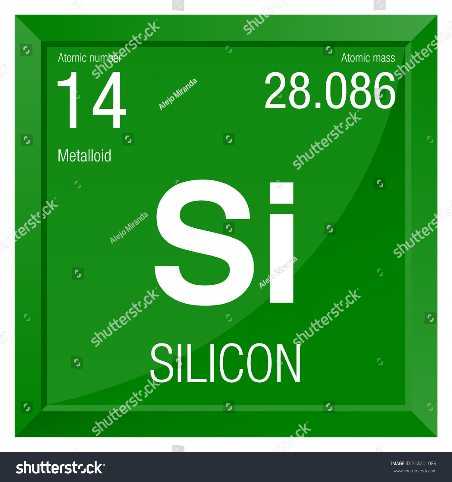 Silicon symbol element number 14 periodic stock vector 518201089 silicon symbol element number 14 of the periodic table of the elements chemistry biocorpaavc Gallery
