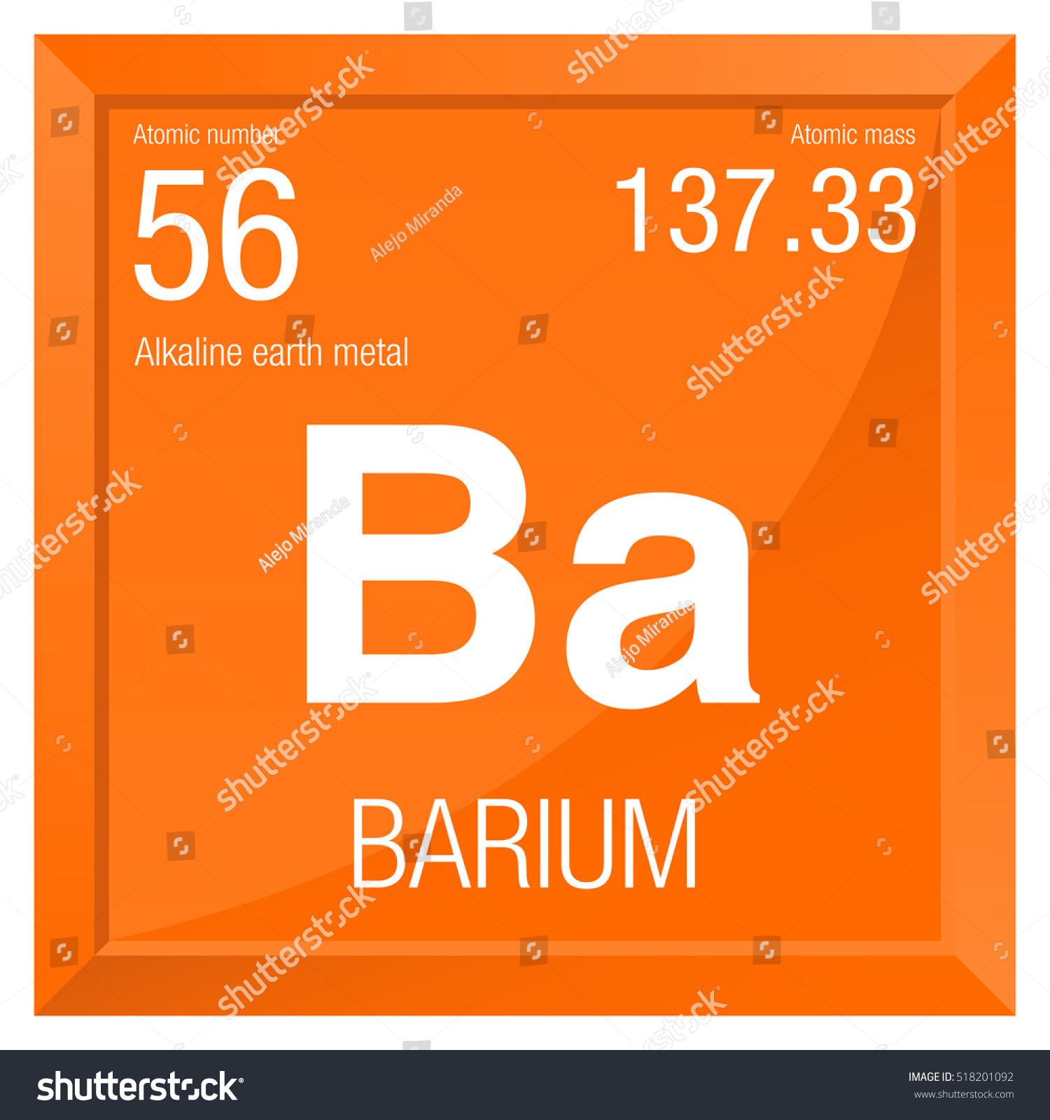 Barium Symbol Element Number 56 Periodic Stock Vector Royalty Free
