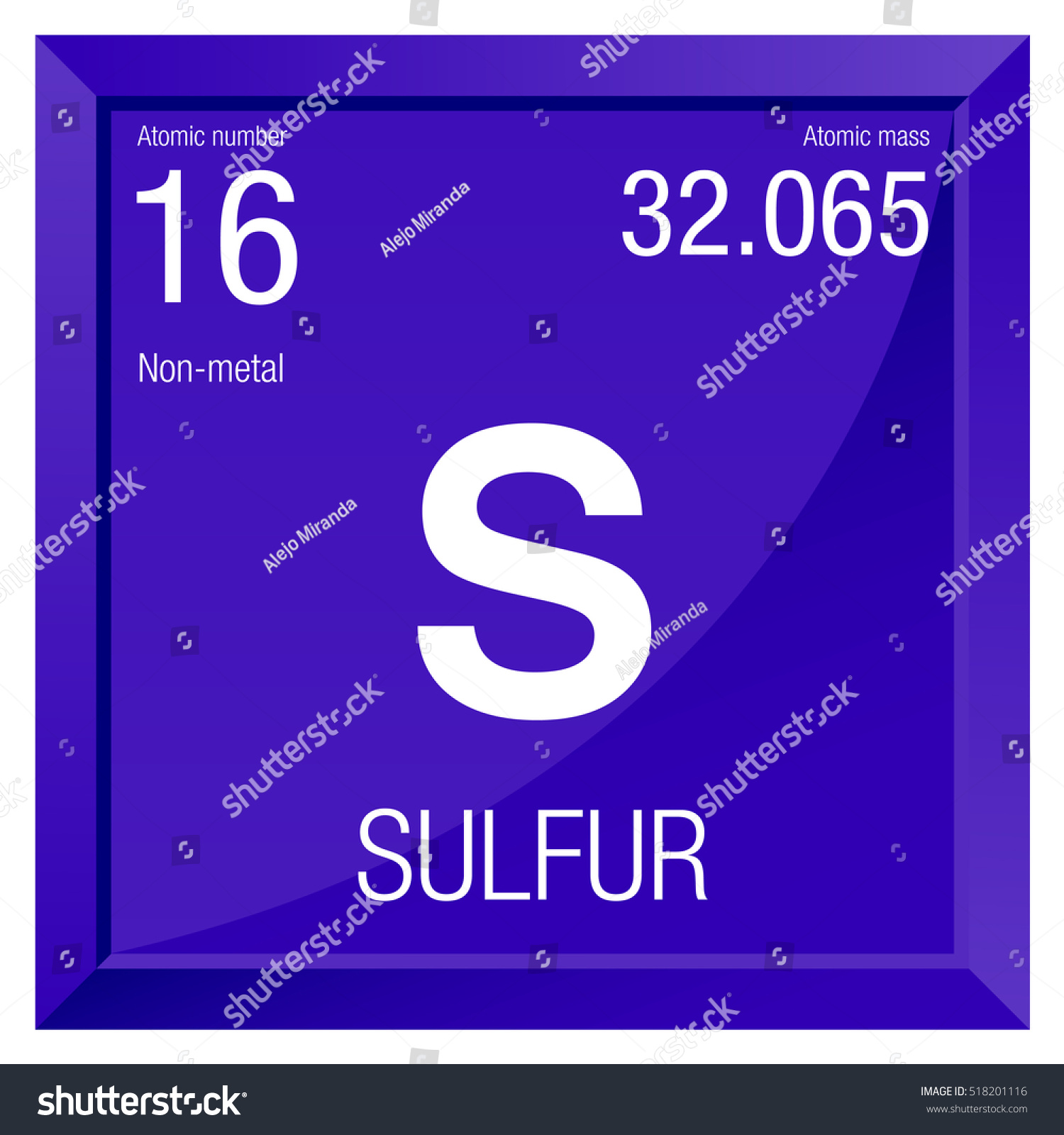 Sulfur symbol element number 16 periodic stock vector 518201116 sulfur symbol element number 16 of the periodic table of the elements chemistry buycottarizona Image collections