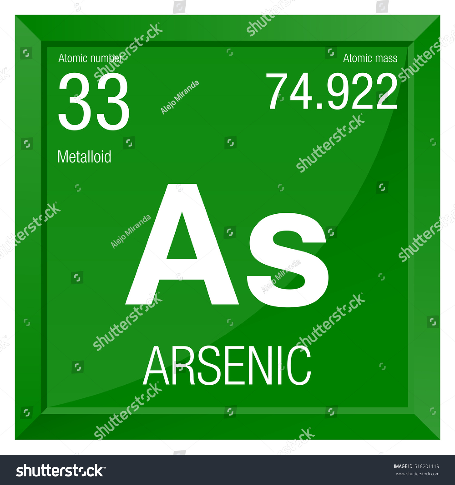 Arsenic symbol element number 33 periodic stock vector 518201119 arsenic symbol element number 33 of the periodic table of the elements chemistry biocorpaavc Image collections