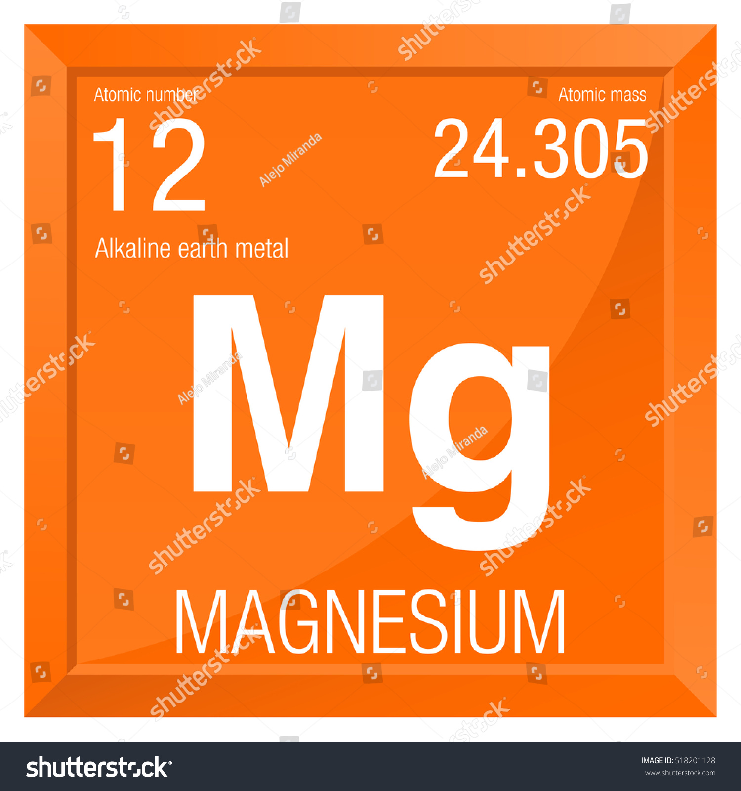 Magnesium symbol element number 12 periodic stock vector 518201128 magnesium symbol element number 12 of the periodic table of the elements chemistry urtaz Images