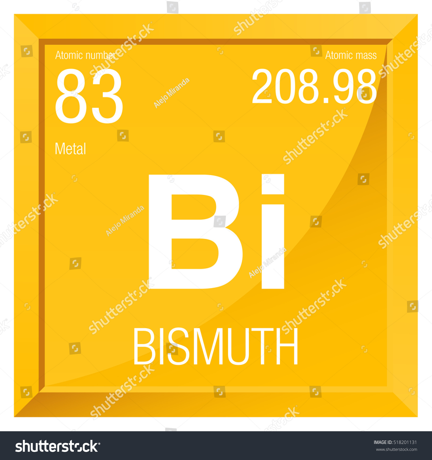 Bismuth symbol element number 83 periodic stock vector 518201131 bismuth symbol element number 83 of the periodic table of the elements chemistry urtaz Gallery