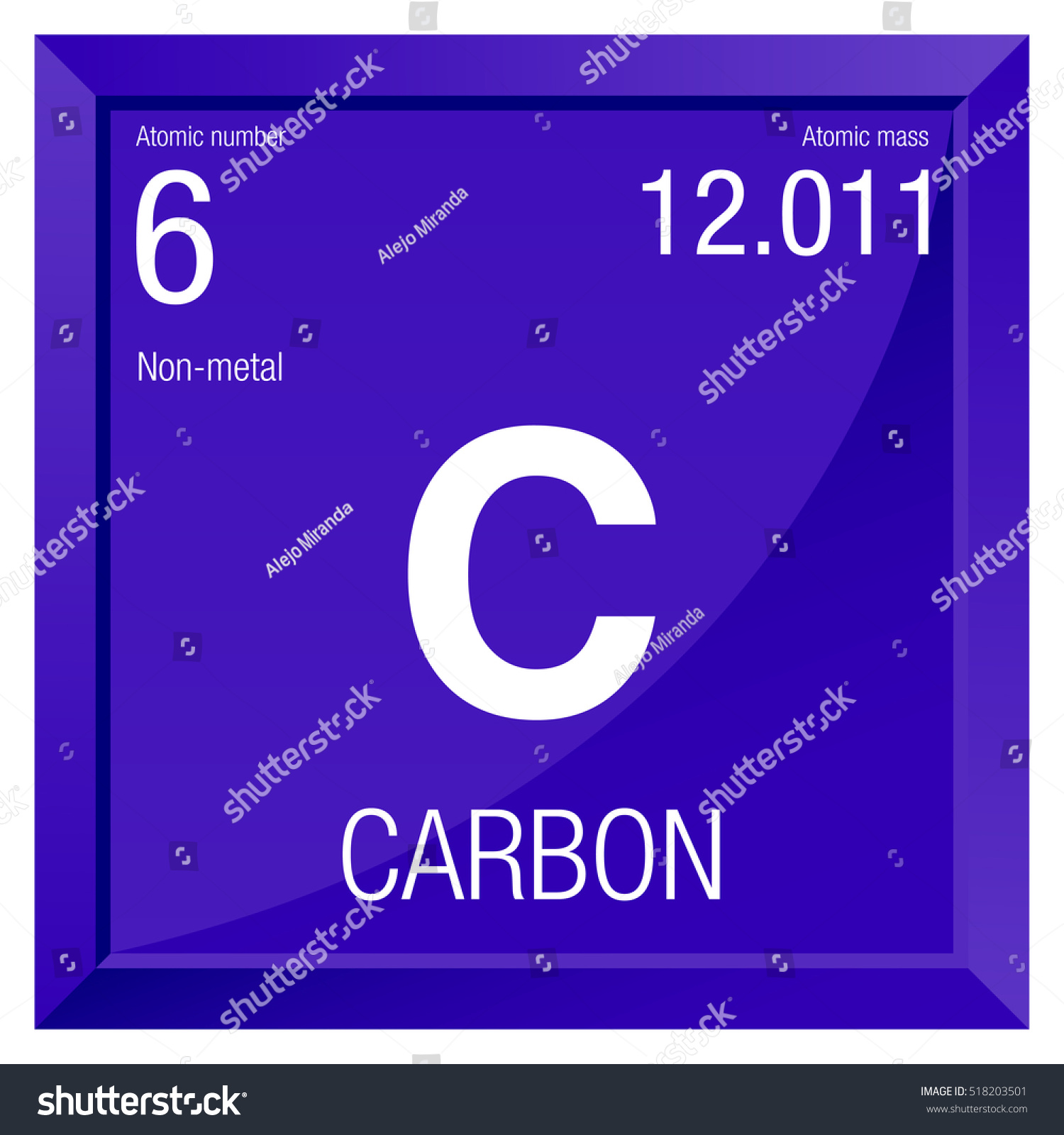 Carbon symbol element number 6 periodic stock vector 518203501 carbon symbol element number 6 of the periodic table of the elements chemistry buycottarizona