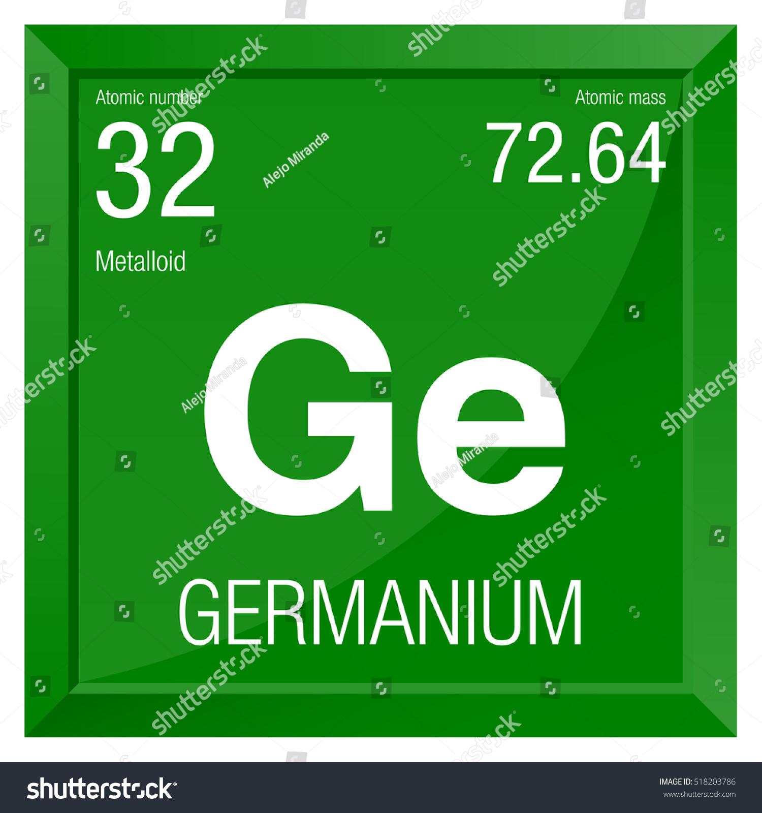 Germanium Symbol Element Number 32 Periodic Stock Photo Photo