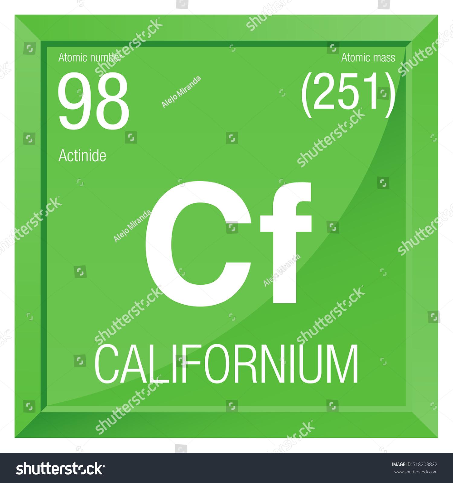 Californium symbol element number 98 periodic stock vector californium symbol element number 98 of the periodic table of the elements chemistry gamestrikefo Images