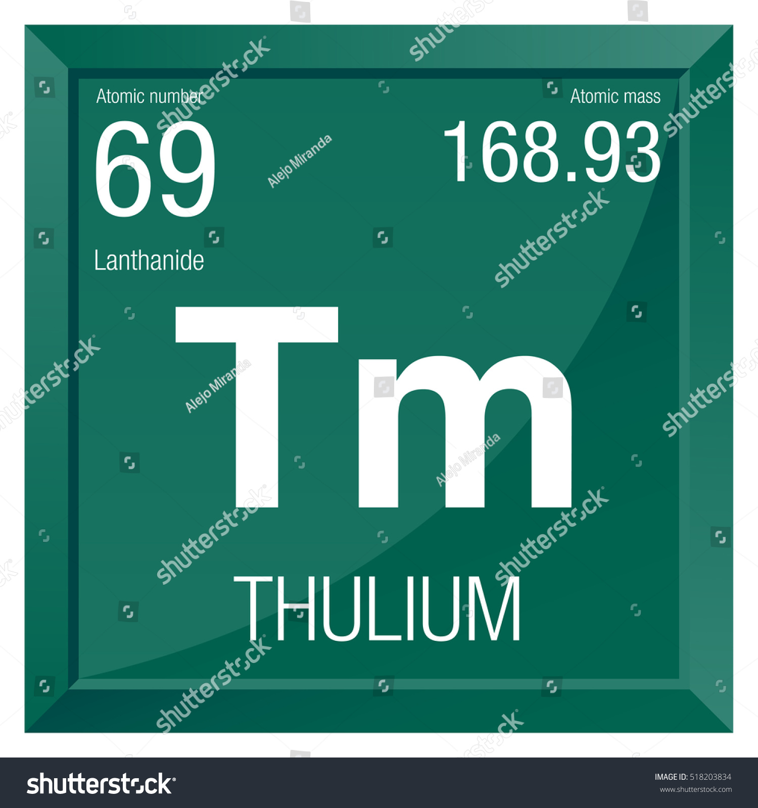 Thulium symbol element number 69 periodic stock vector 518203834 thulium symbol element number 69 of the periodic table of the elements chemistry gamestrikefo Gallery