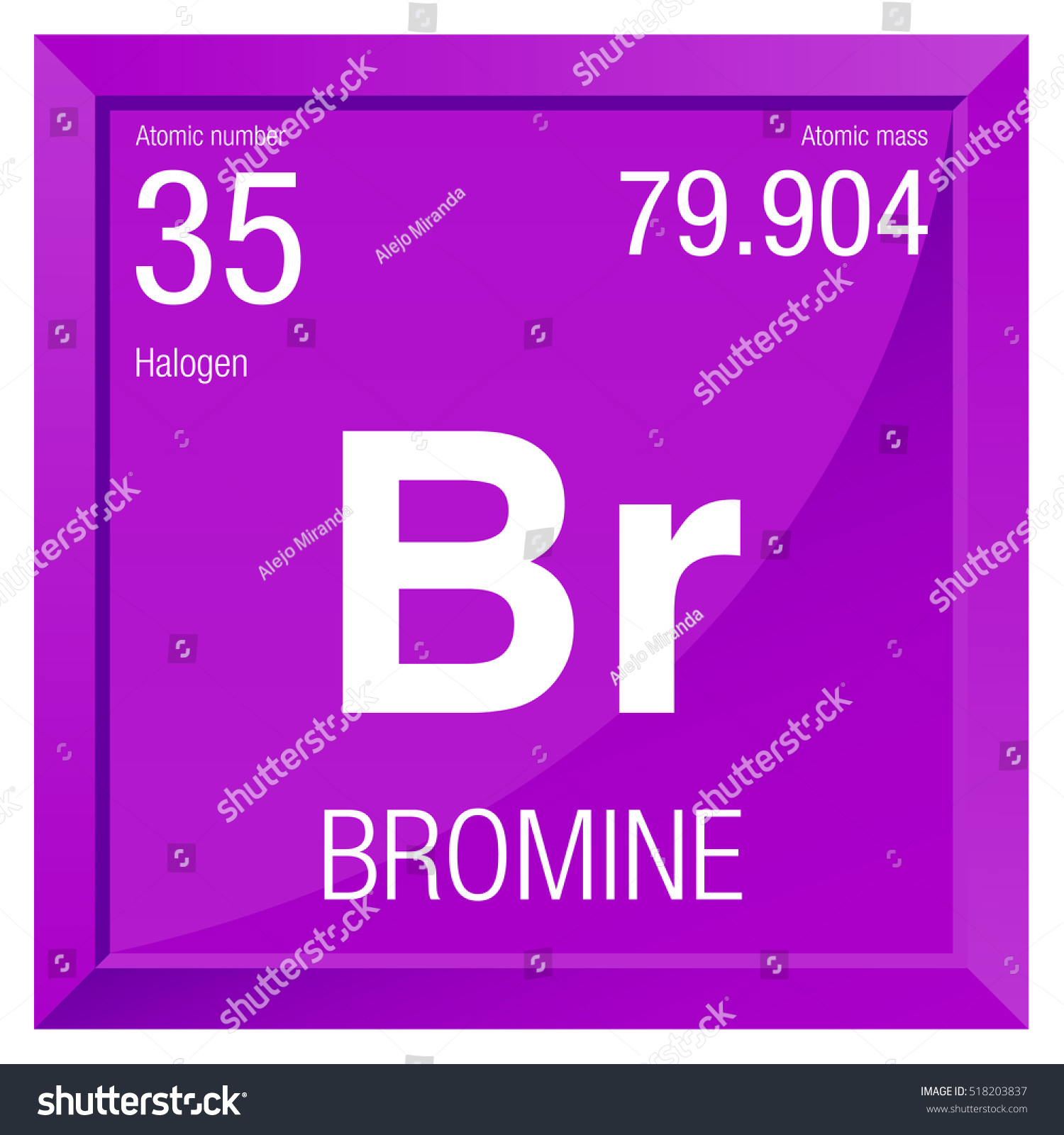 Periodic table bromine choice image periodic table images bromine symbol element number 35 periodic stock vector 518203837 bromine symbol element number 35 of the gamestrikefo Image collections