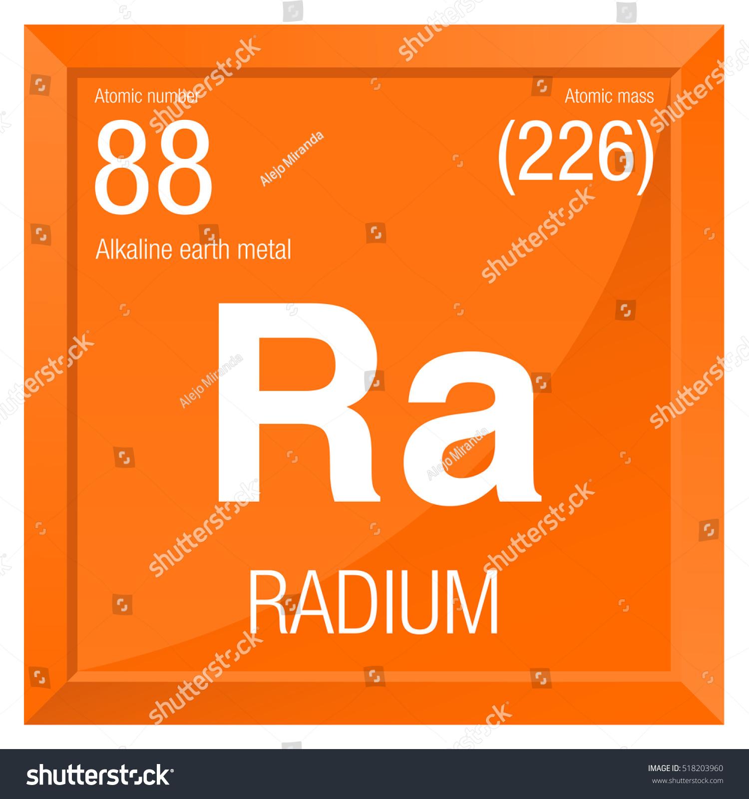 Radium symbol element number 88 periodic stock vector 2018 radium symbol element number 88 of the periodic table of the elements chemistry urtaz Choice Image