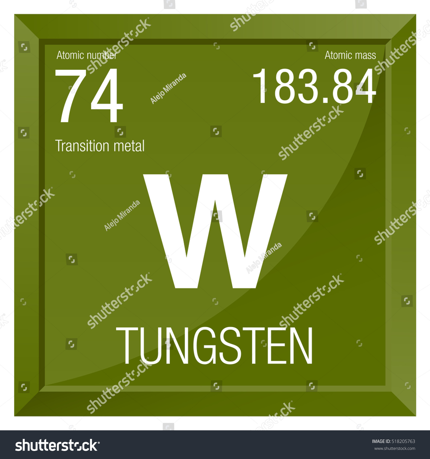 Tungsten symbol element number 74 periodic stock vector 518205763 tungsten symbol element number 74 of the periodic table of the elements chemistry nvjuhfo Gallery