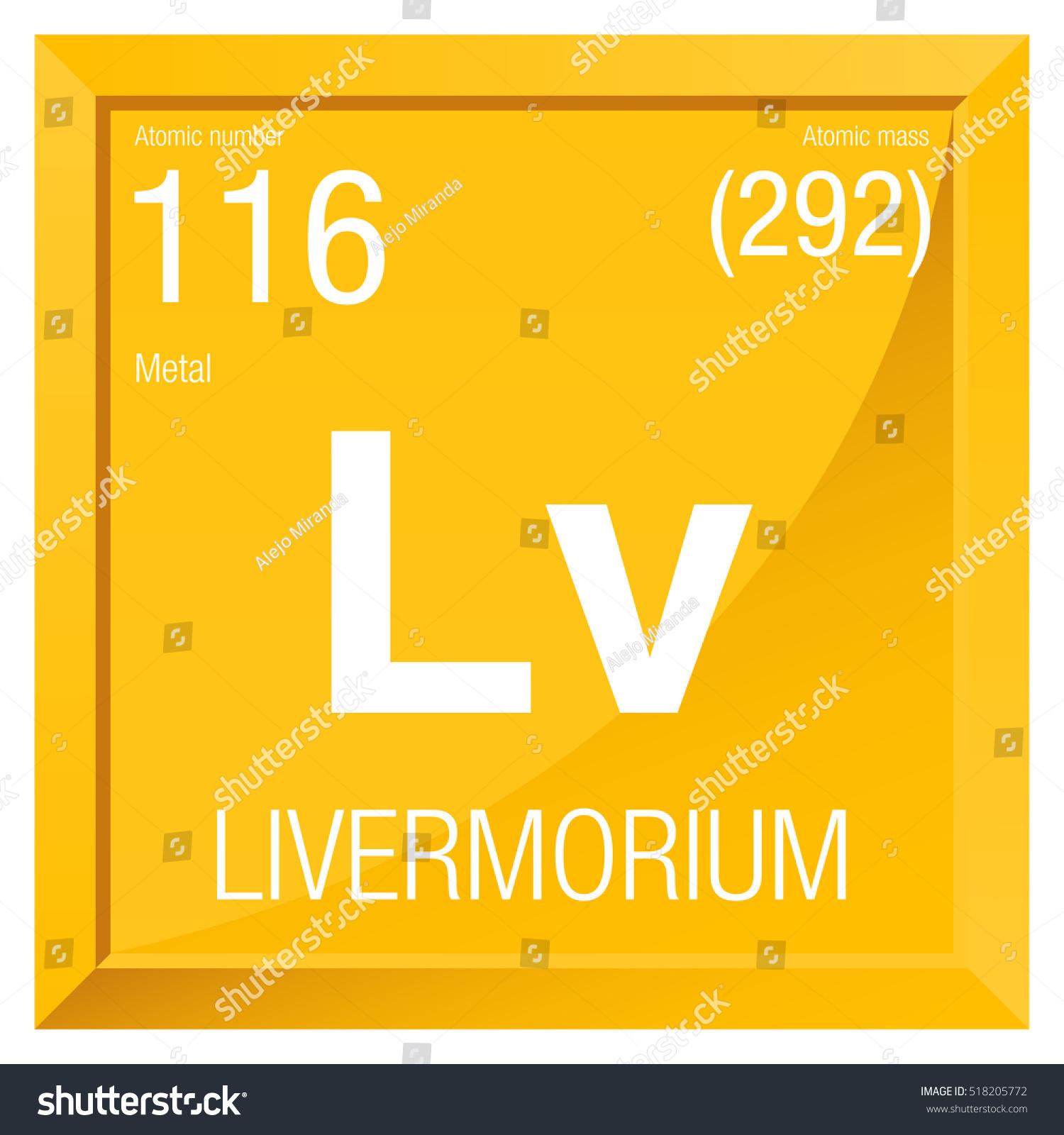 Gold periodic table symbol choice image periodic table images livermorium symbol element number 116 periodic stock vector livermorium symbol element number 116 of the periodic gamestrikefo Image collections