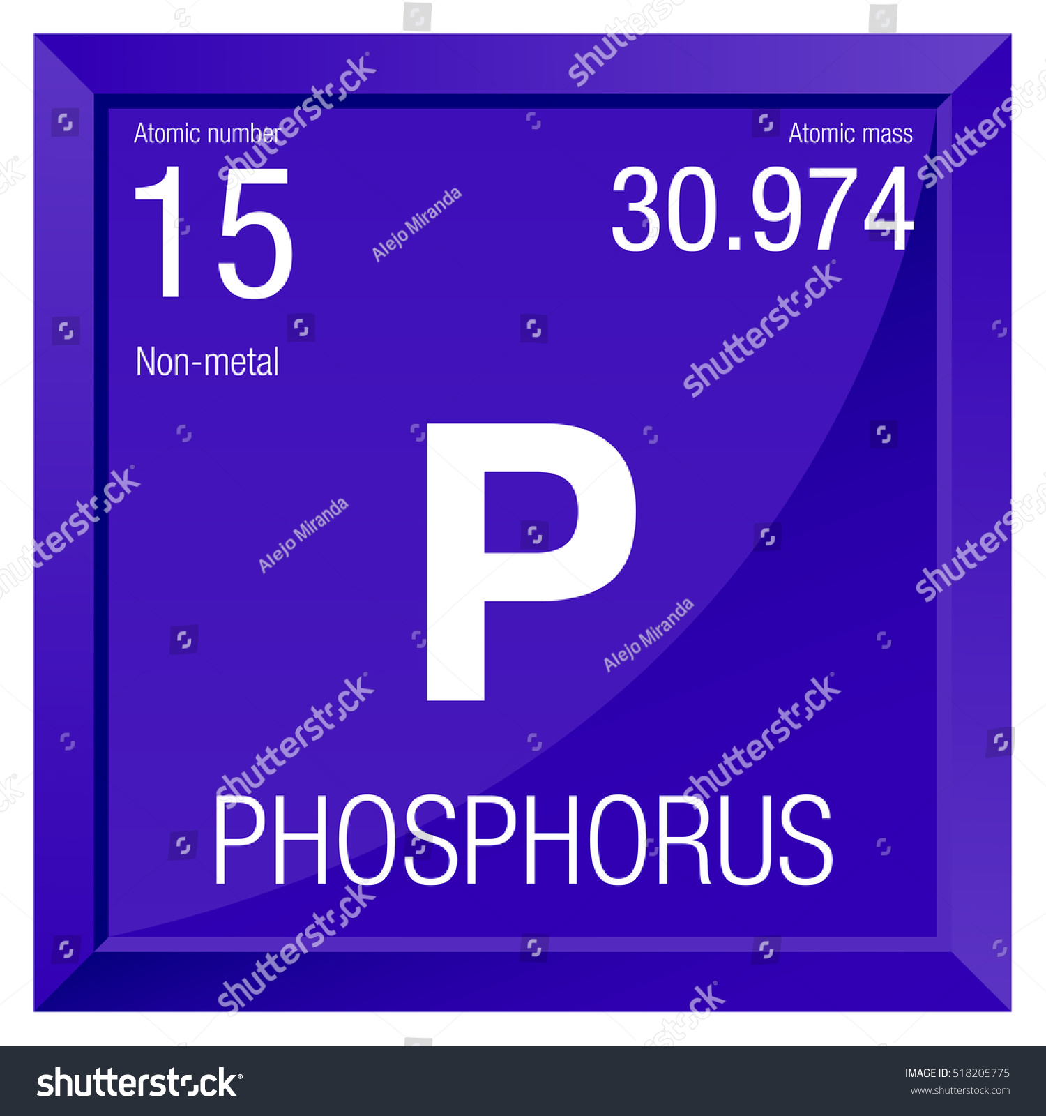 stock vector phosphorus symbol element number of the periodic table of the elements chemistry square jpg