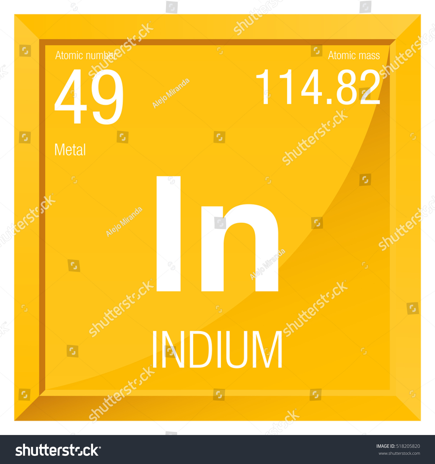 Indium symbol element number 49 periodic stock vector 518205820 indium symbol element number 49 of the periodic table of the elements chemistry gamestrikefo Gallery