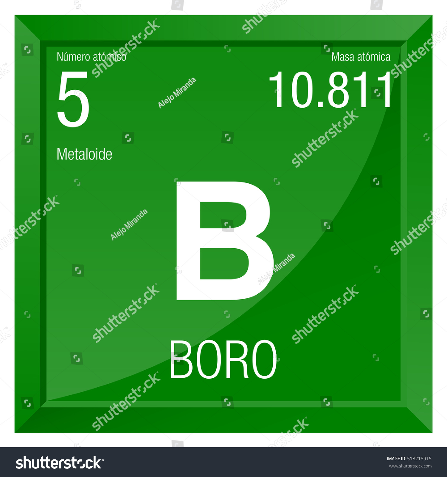 Boro symbol boron spanish language element stock vector 518215915 boro symbol boron in spanish language element number 5 of the periodic table of buycottarizona