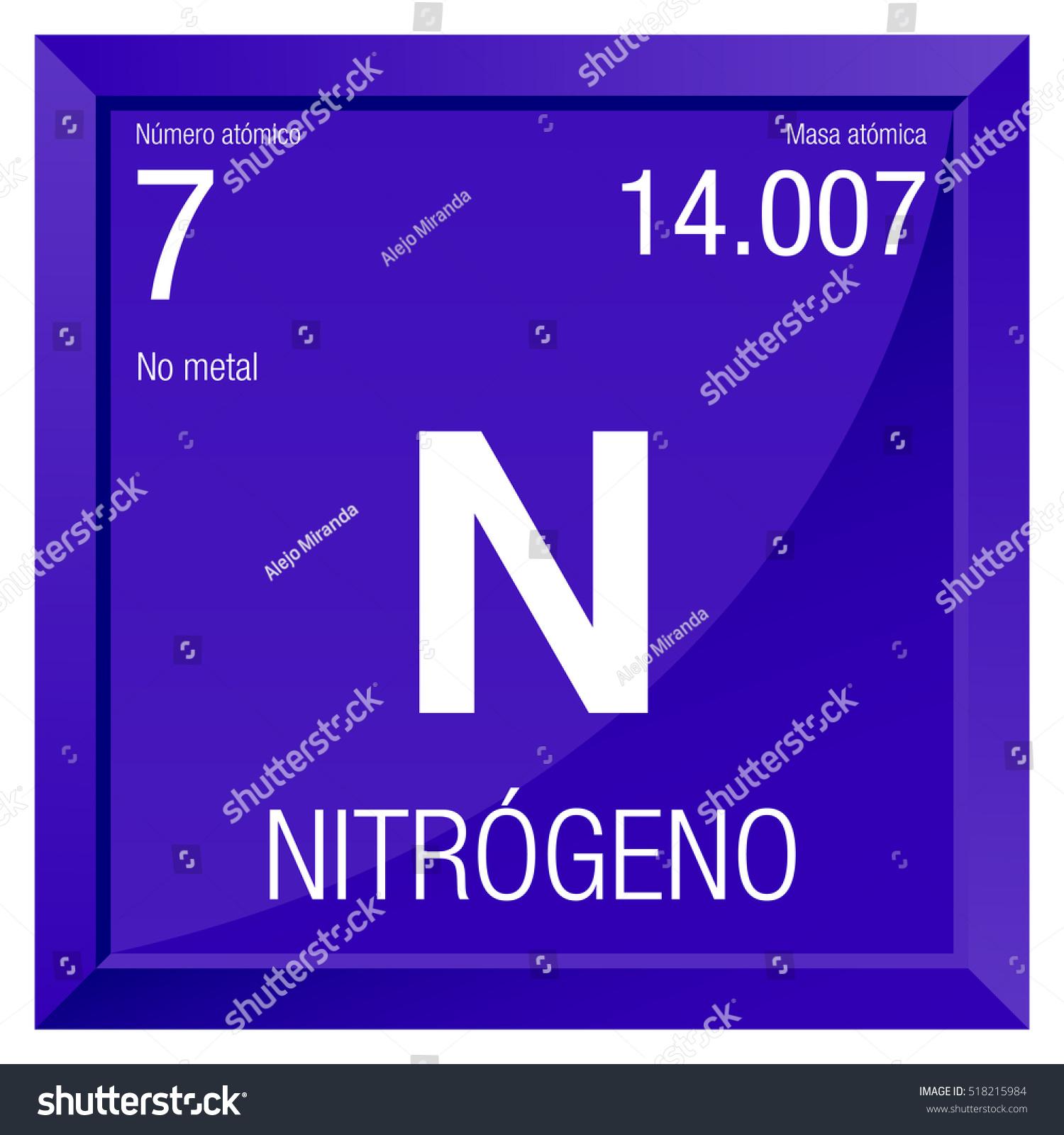Nitrogeno symbol nitrogen spanish language element stock photo nitrogeno symbol nitrogen in spanish language element number 7 of the periodic table of urtaz Images