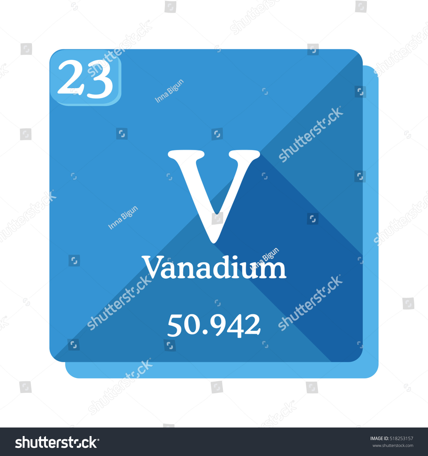 Vanadium v element periodic table flat stock vector hd royalty free vanadium v element of the periodic table flat icon with long shadow urtaz Image collections
