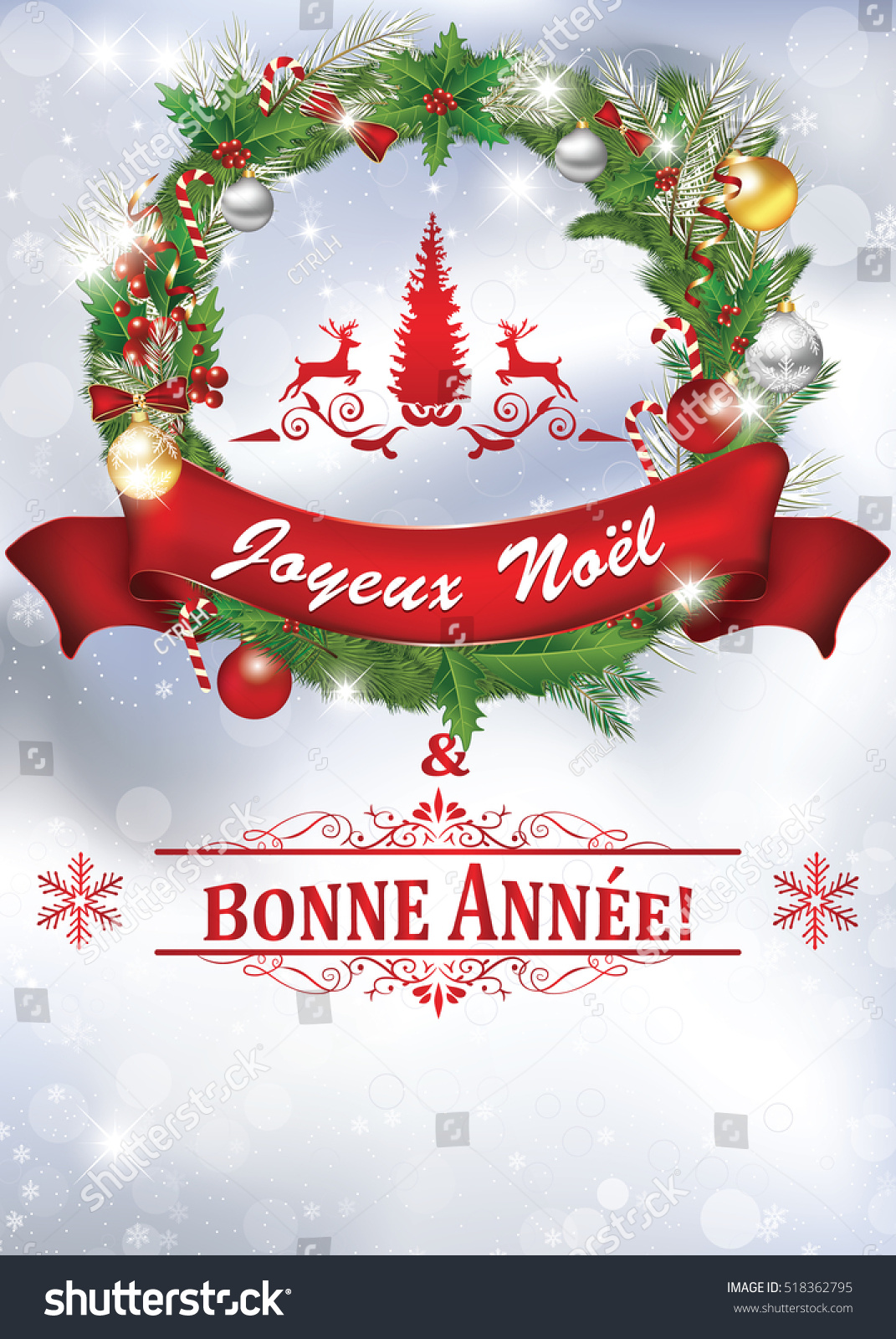 Printable New Year Greeting Card With Message In French ...