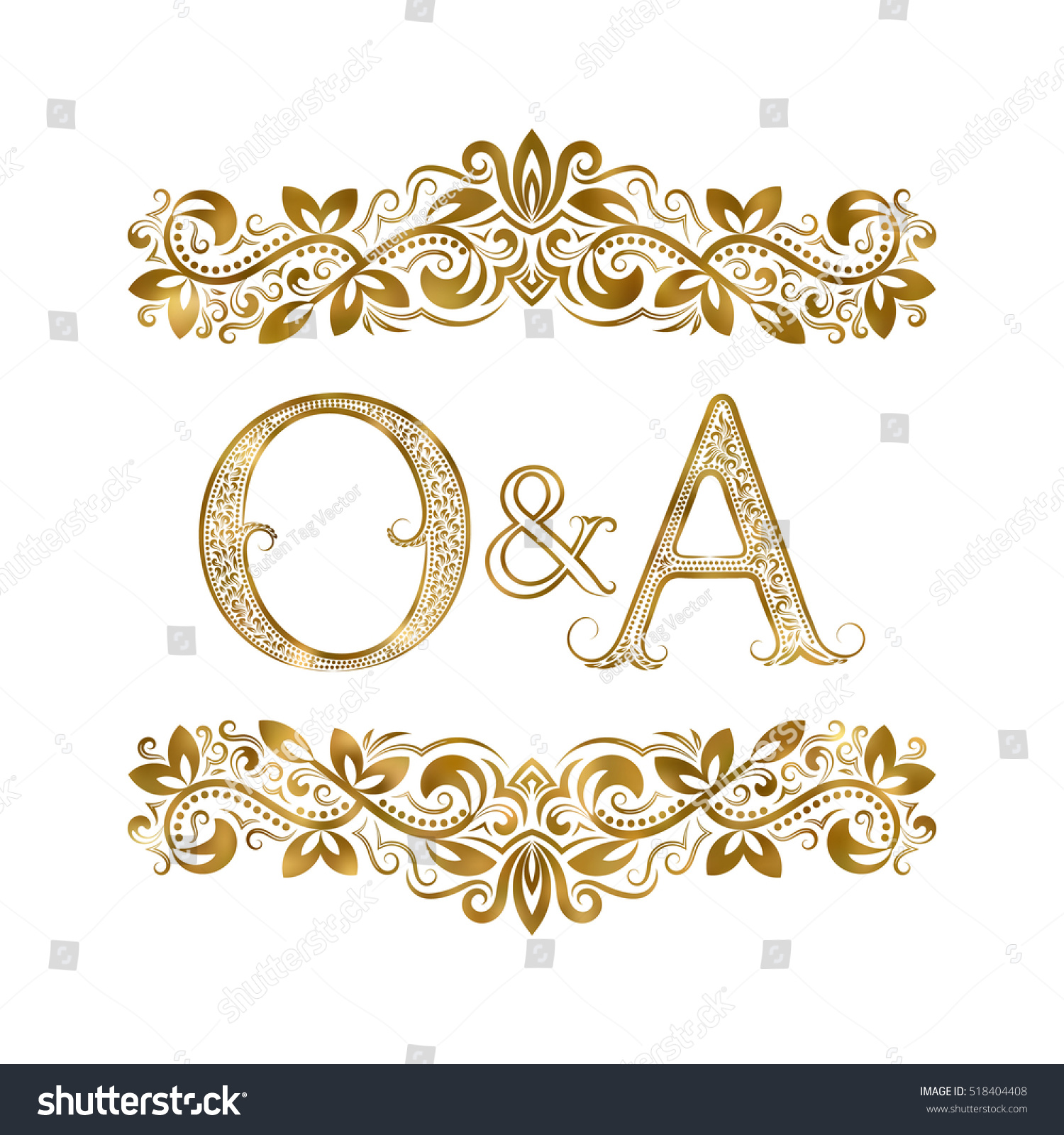 O vintage initials logo symbol letters stock vector 518404408 o and a vintage initials logo symbol the letters are surrounded by ornamental elements buycottarizona