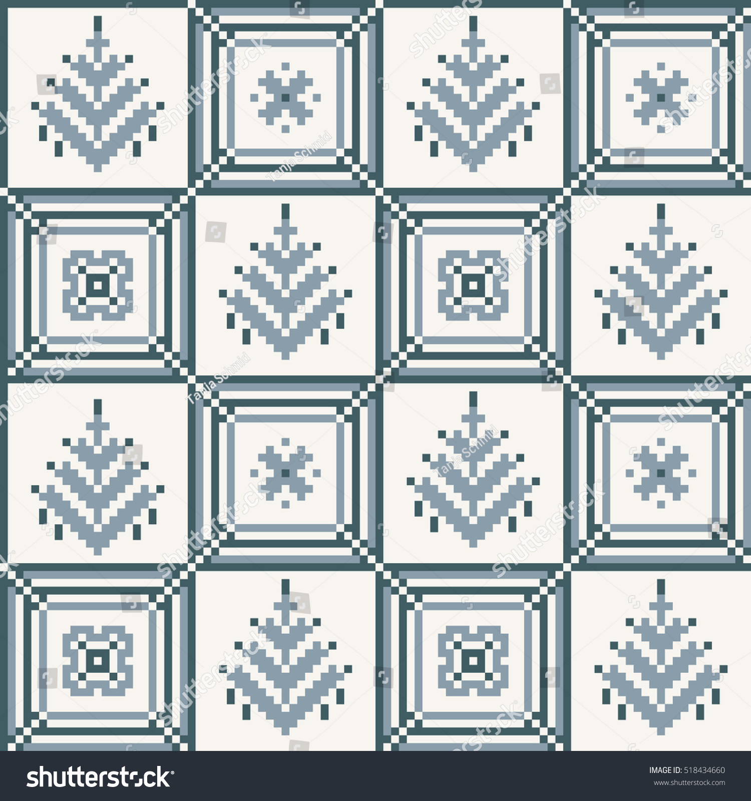 Christmas Seamless Pattern Ideal For Wrapping Paper Scandinavian Folk Decor