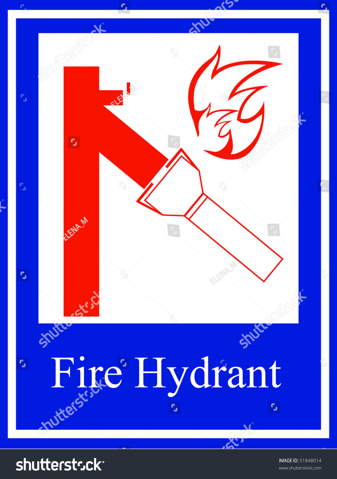 Fire Hydrant Symbol Stock Vector Royalty Free 51848014 Shutterstock