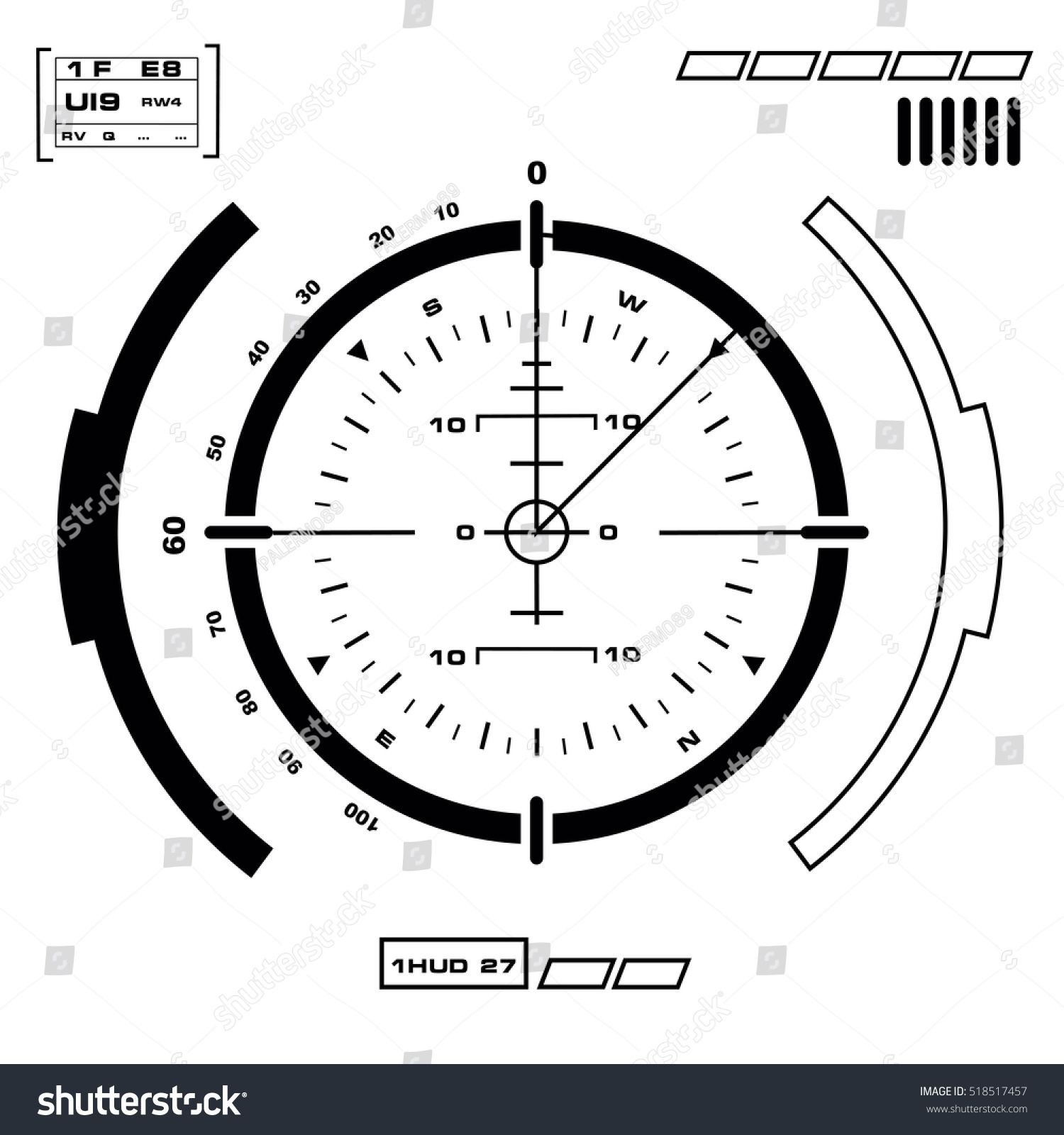 Futuristic Hud Virtual Touch User Interface Stock Vector